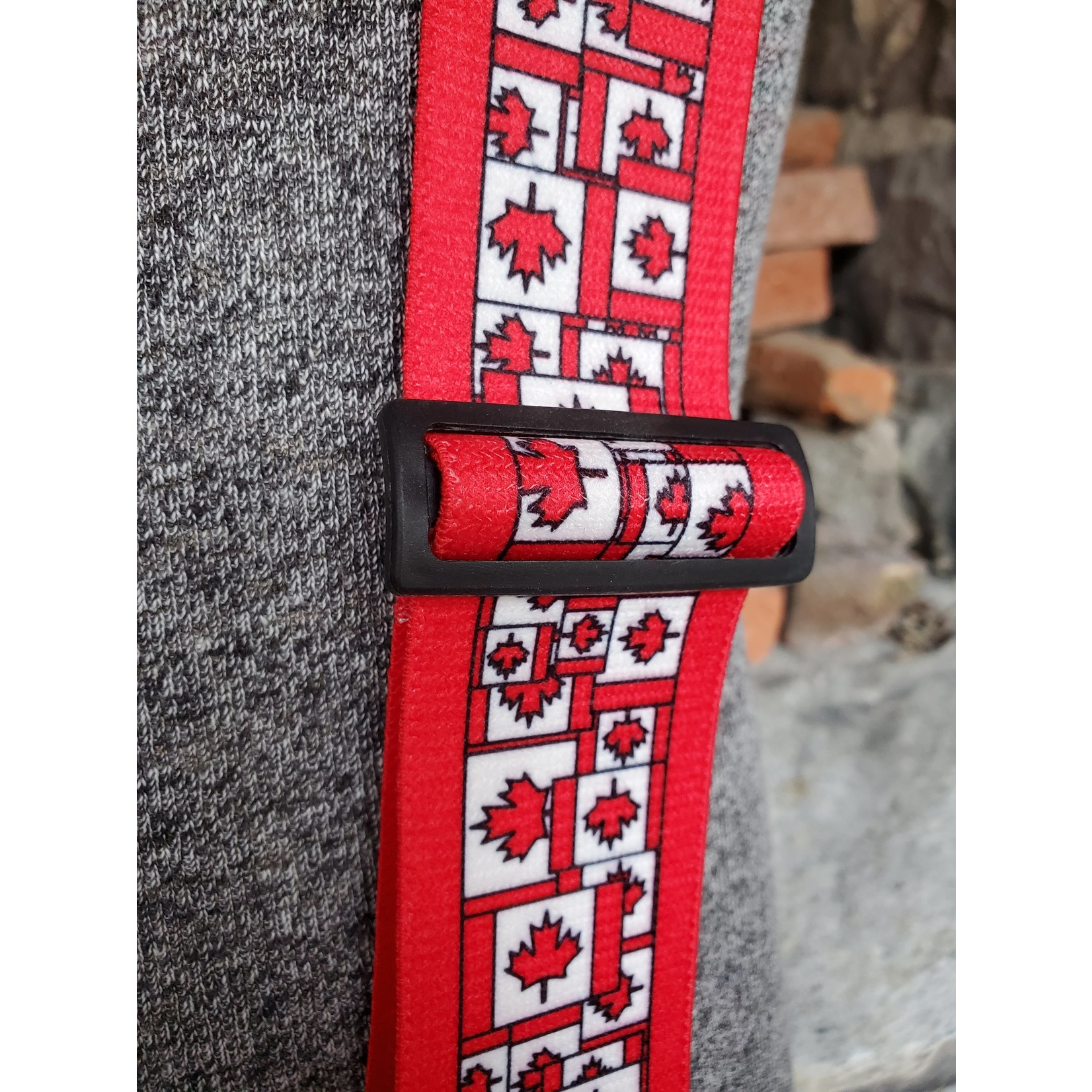 "Lynn Valley Mfg Lynn Valley Heavy Duty Novelty 2"" Clip Suspender SCW200-5CM Canadian Flags"