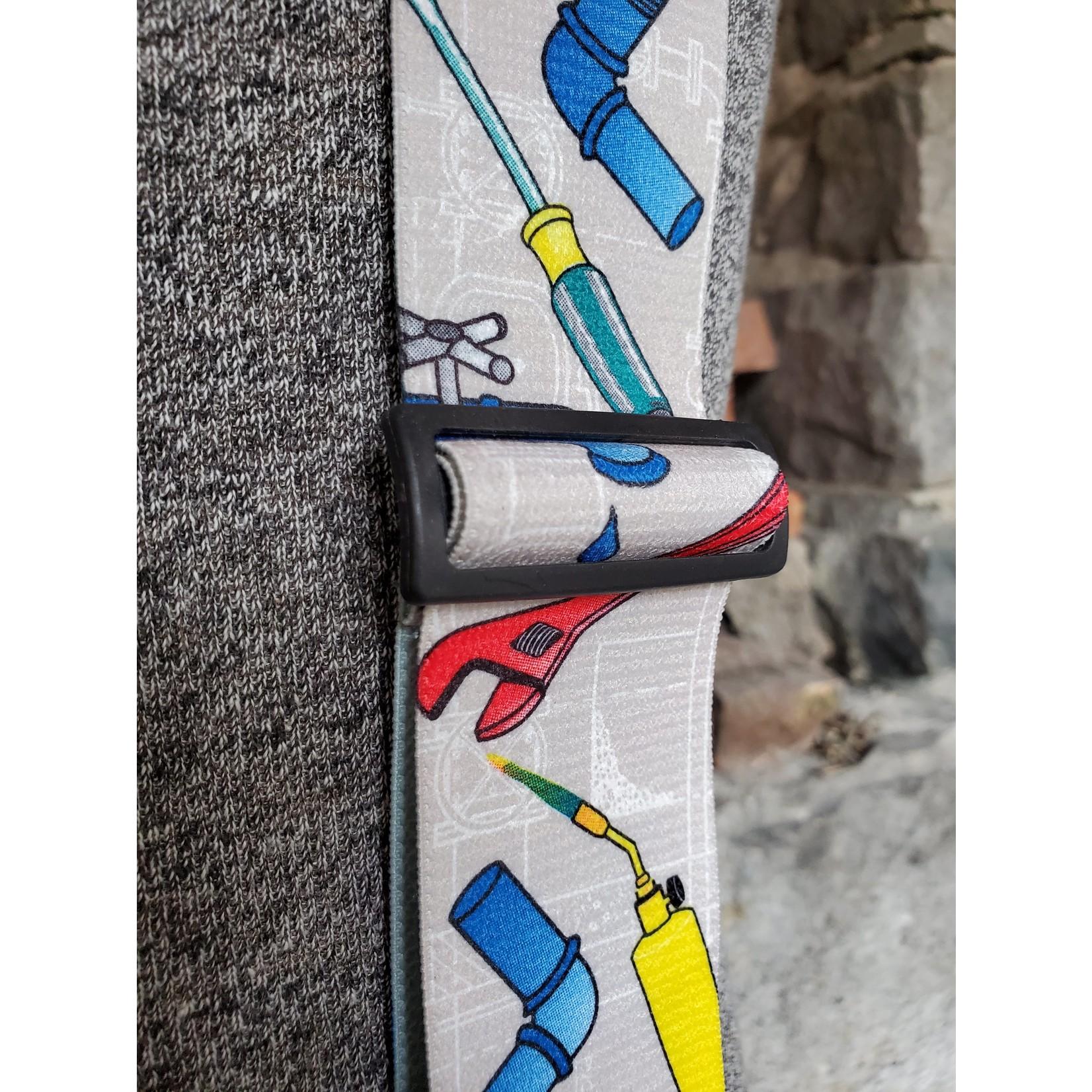 """Lynn Valley Mfg Lynn Valley Heavy Duty Novelty 2"""" Clip Suspender SCG200-5PL Grey Plumber"""