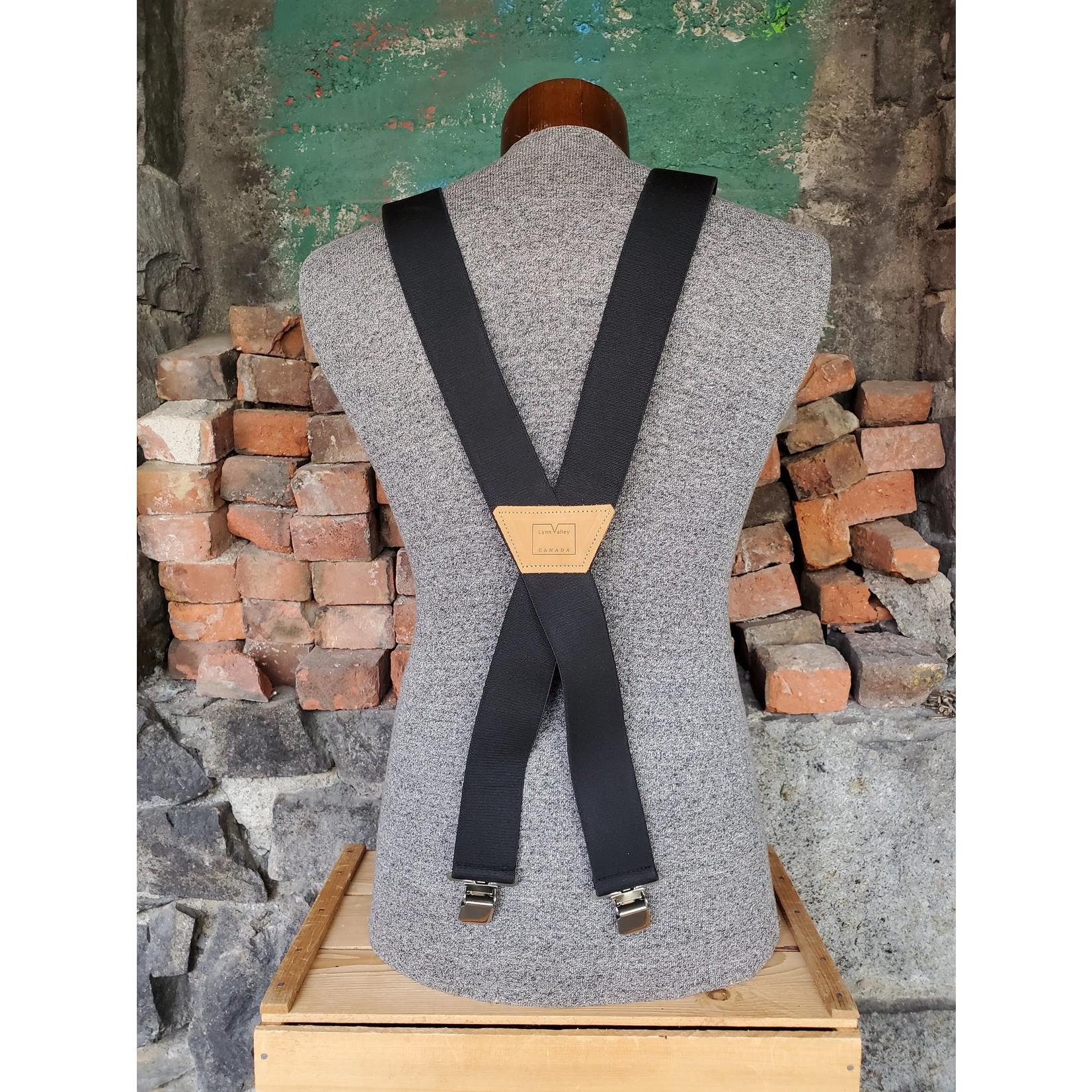"""Lynn Valley Mfg Lynn Valley Heavy Duty 2"""" Clip Suspender SCB200-5 Black"""