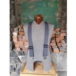 """Lynn Valley Mfg Lynn Valley Heavy Duty 2"""" Clip Suspender Grey"""