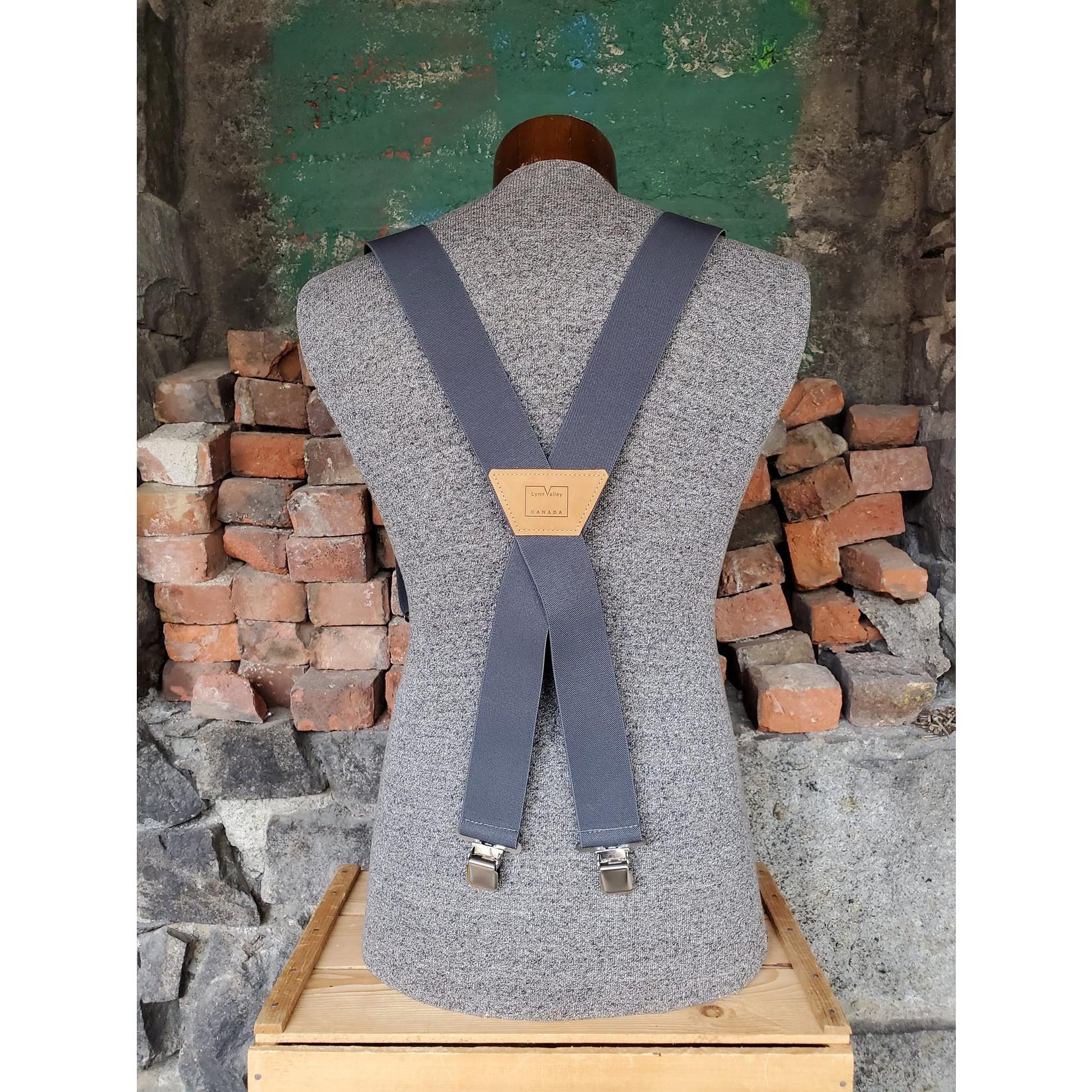 """Lynn Valley Mfg Lynn Valley Heavy Duty 2"""" Clip Suspender SCG200-5 Grey"""
