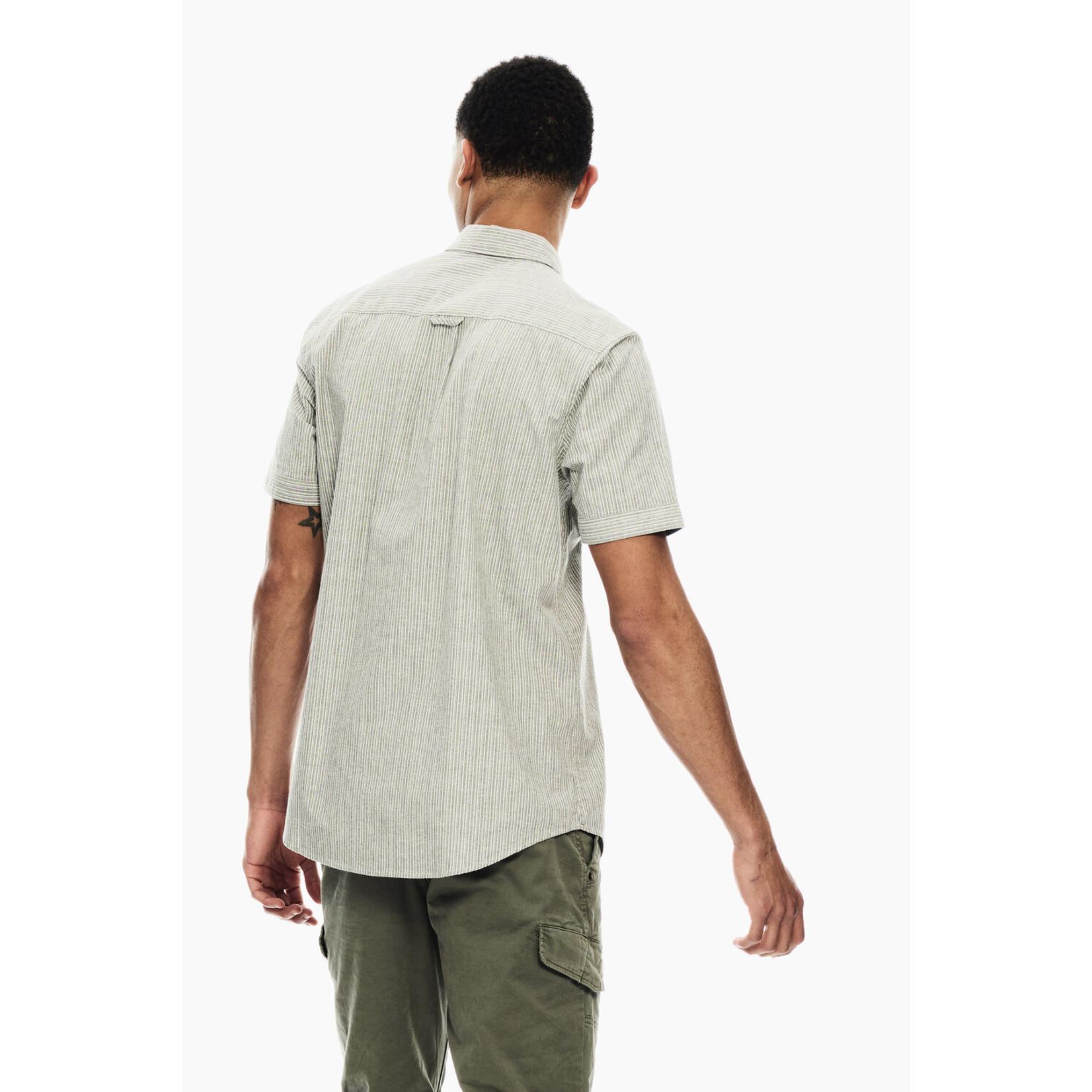 Garcia Garcia C11087 Striped Pocket Short Sleeve Shirt 3942 Deep Army