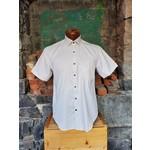 Versa Brown Geometric Print Button-Up Shirt