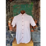 Versa Pink Geometric Print Button-Up Shirt