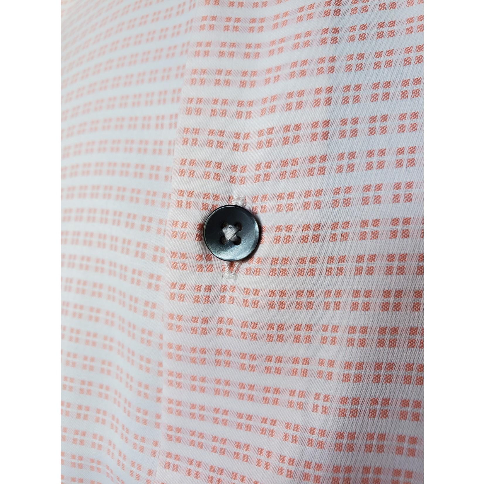 Versa MR6AD3 Pink Geometric Print Button-Up Short-Sleeve Shirt