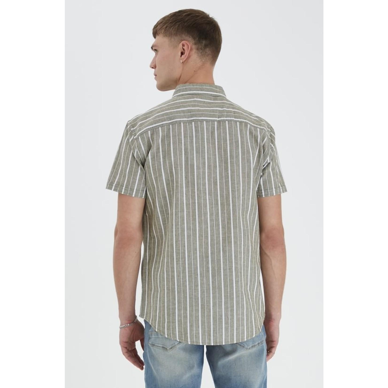 Blend Blend 20712173 Cotton/ Linen Short-Sleeve Shirt