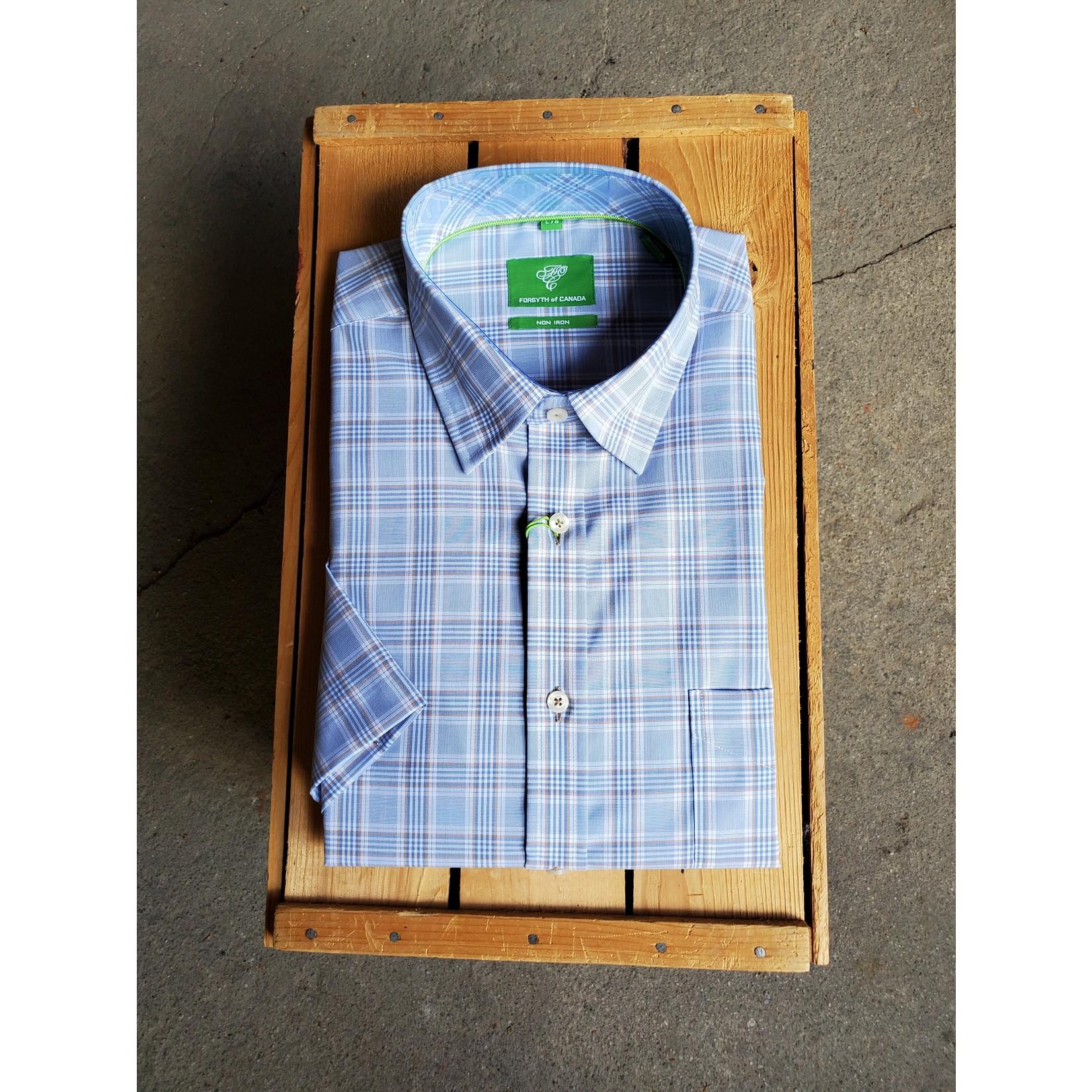 Forsyth Forsyth 8734S Yarn-Dyed End On End Stitch Short-Sleeve Shirt
