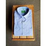 Forsyth Forsyth Faux Solid Slub Short-Sleeve Shirt Blue