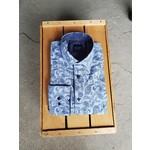 Scoop Long-Sleeve Blue Paisley Shirt