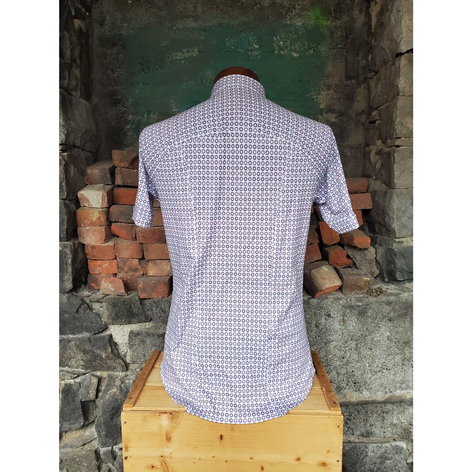 Desoto Desoto 412-35-3 Short-Sleeve Printed Spread Collar Jersey Shirt