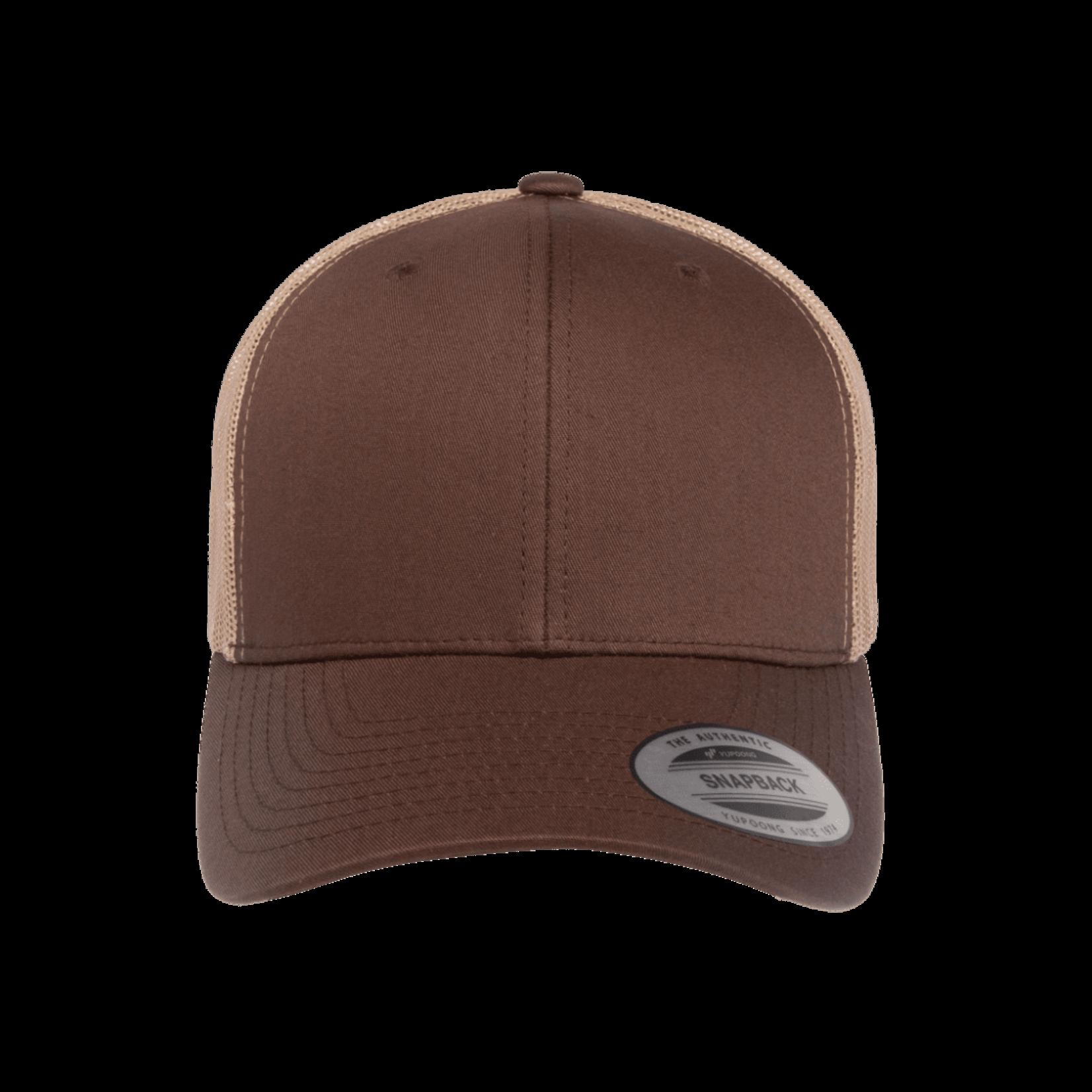 Flexfit Flexfit 6606T 2-Tone Snapback Trucker Hat - Brown/Khaki