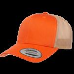 Flexfit Flexfit 6606T 2-Tone Snapback Trucker Hat - Orange/Khaki
