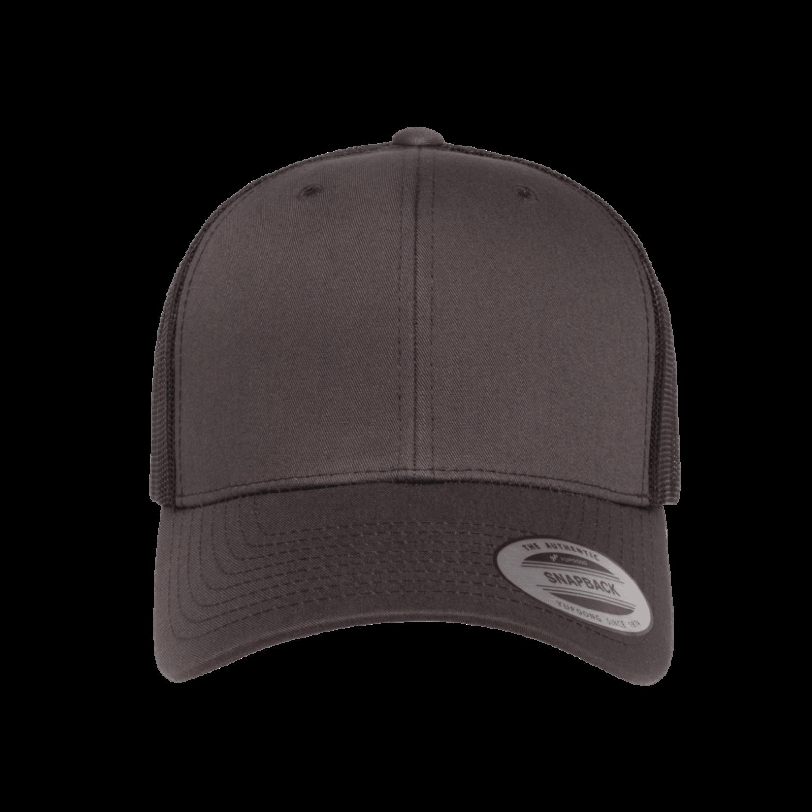 Flexfit Flexfit 6606T 2-Tone Snapback Trucker Hat - Charcoal/Black