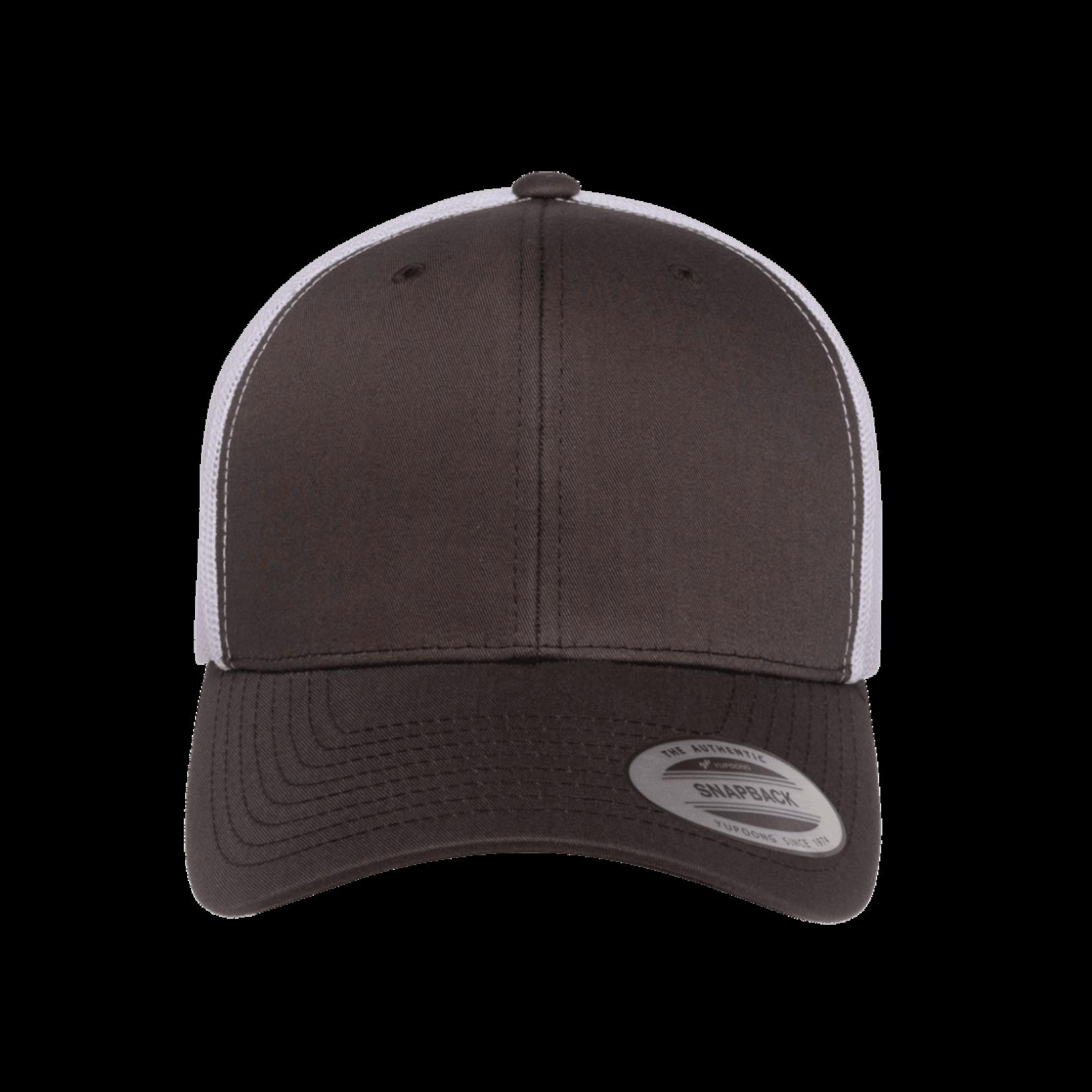 Flexfit Flexfit 6606T 2-Tone Snapback Trucker Hat - Charcoal/White