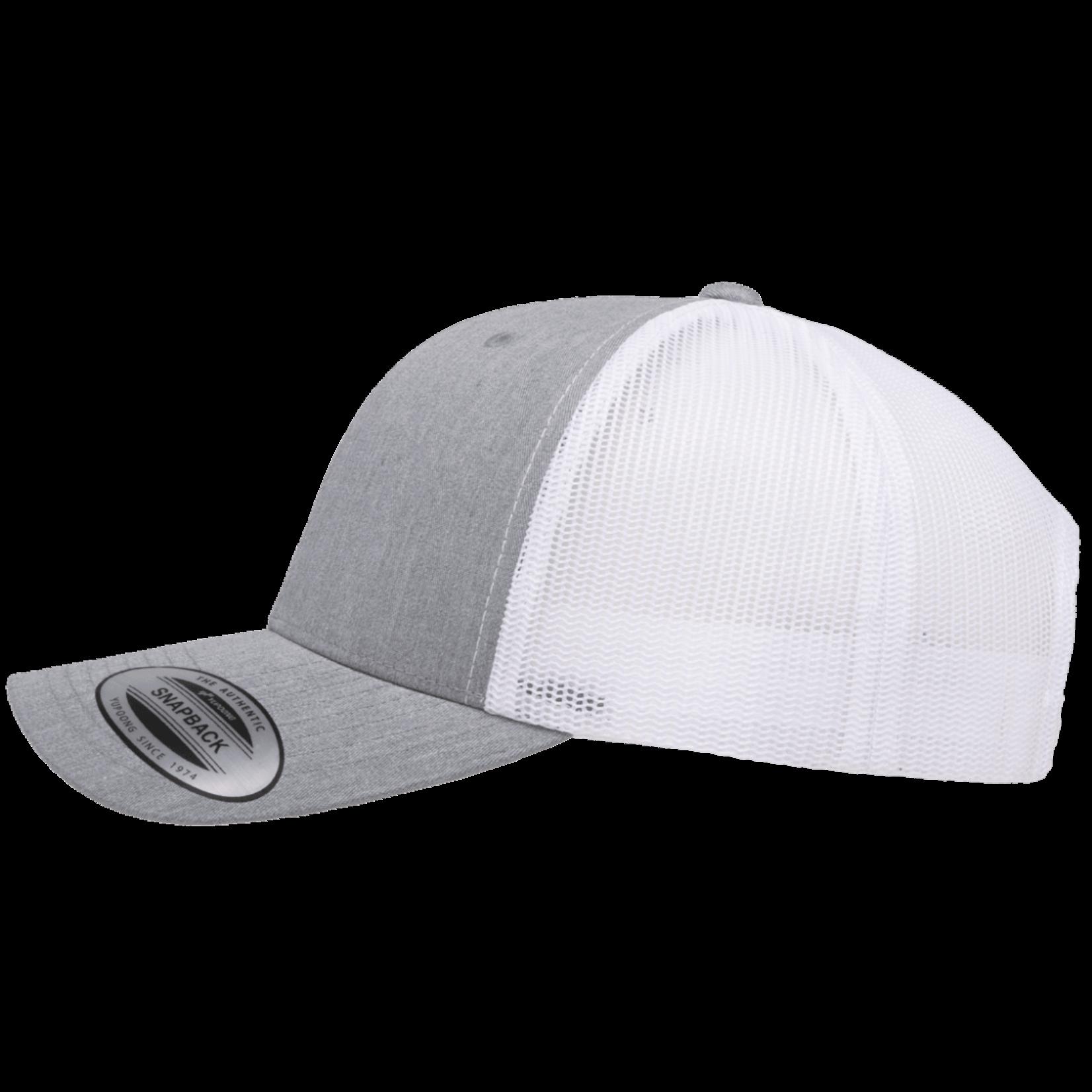 Flexfit Flexfit 6606T 2-Tone Snapback Trucker Hat - Heather Grey/White