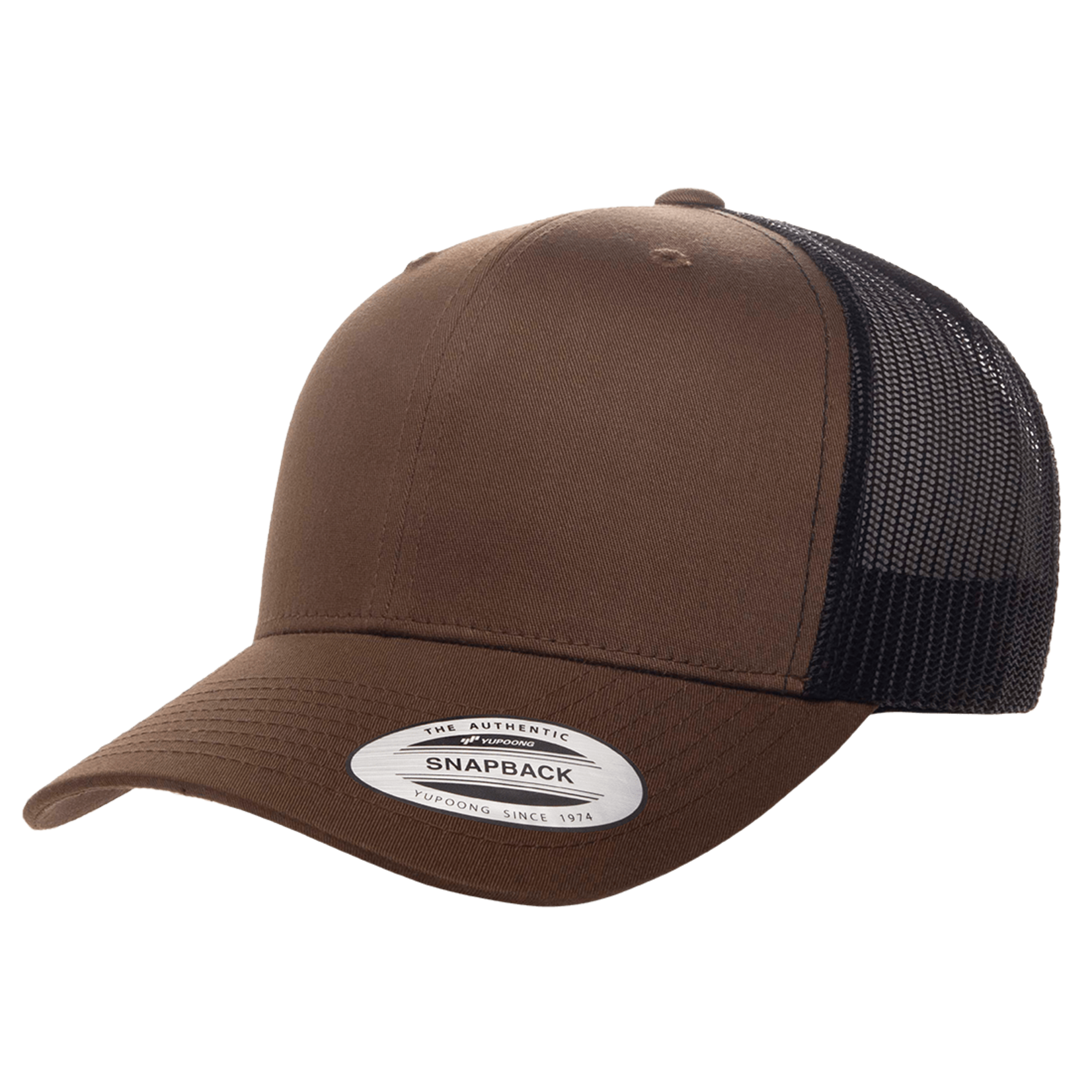 Flexfit Flexfit 6606T 2-Tone Snapback Trucker Hat - Coyote Brown/Black