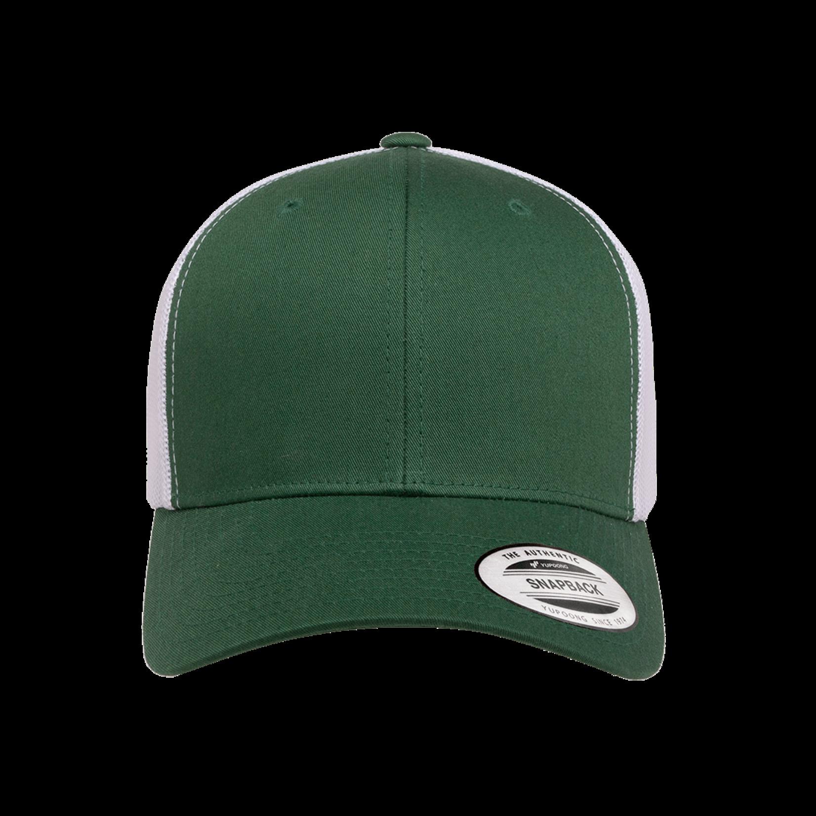 Flexfit Flexfit 6606T 2-Tone Snapback Trucker Hat - Evergreen/White