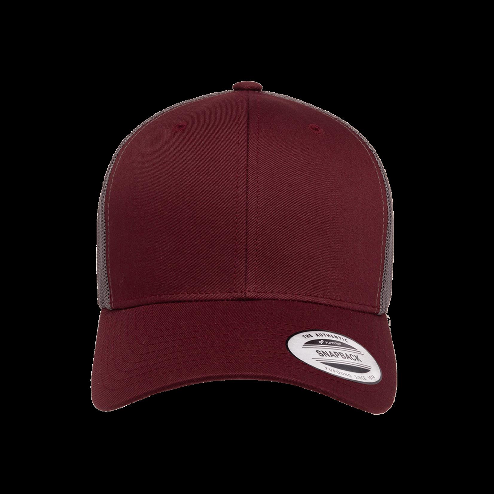 Flexfit Flexfit 6606T 2-Tone Snapback Trucker Hat - Maroon/Grey