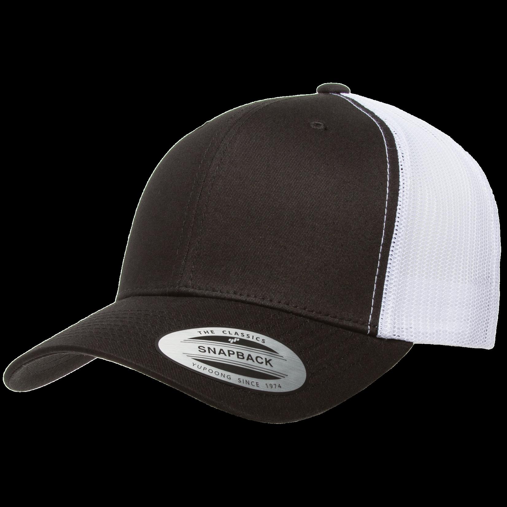 Flexfit Flexfit 6606T 2-Tone Snapback Trucker Hat - Black/White