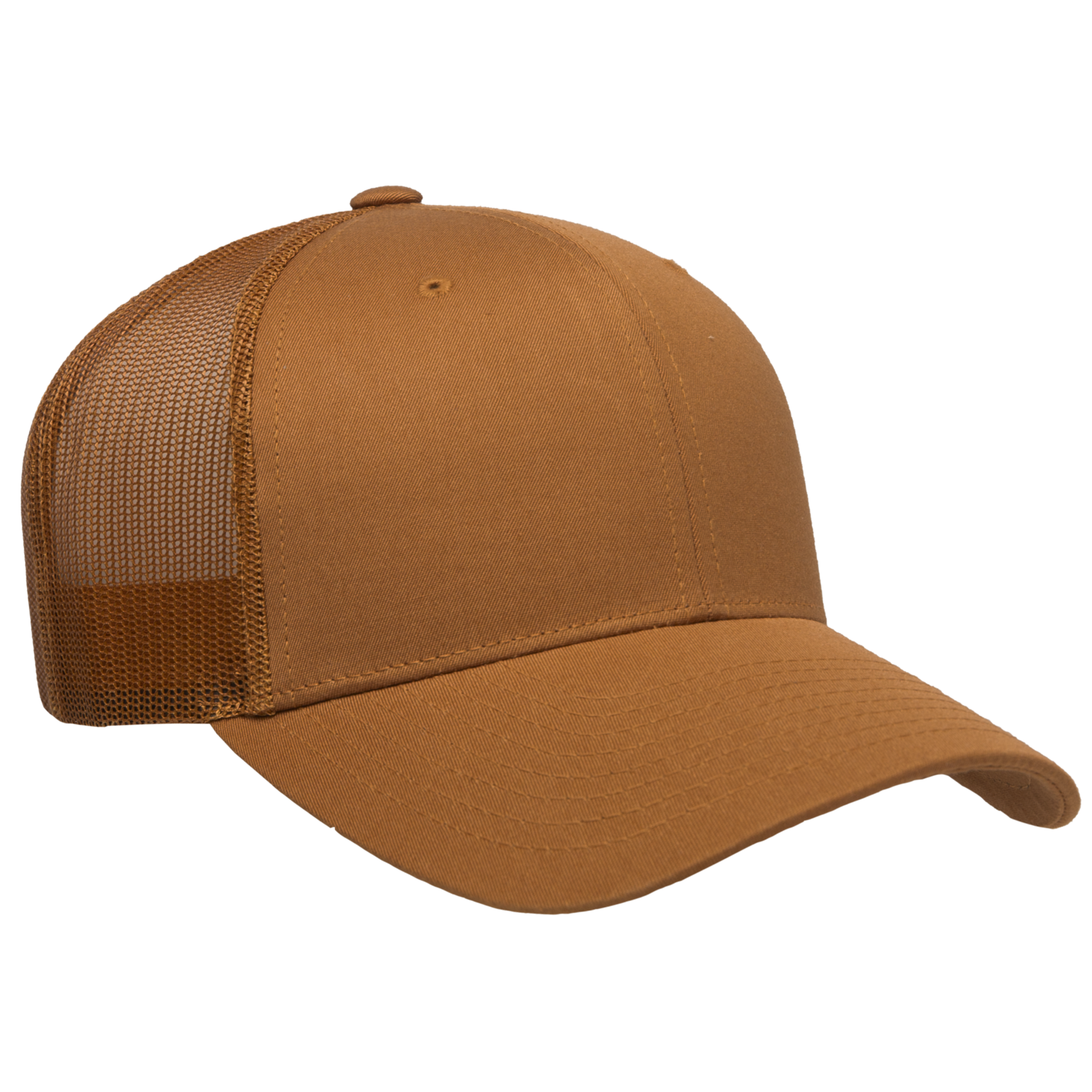 Flexfit Flexfit 6606 Classic Snapback Trucker Hat - Solid Caramel