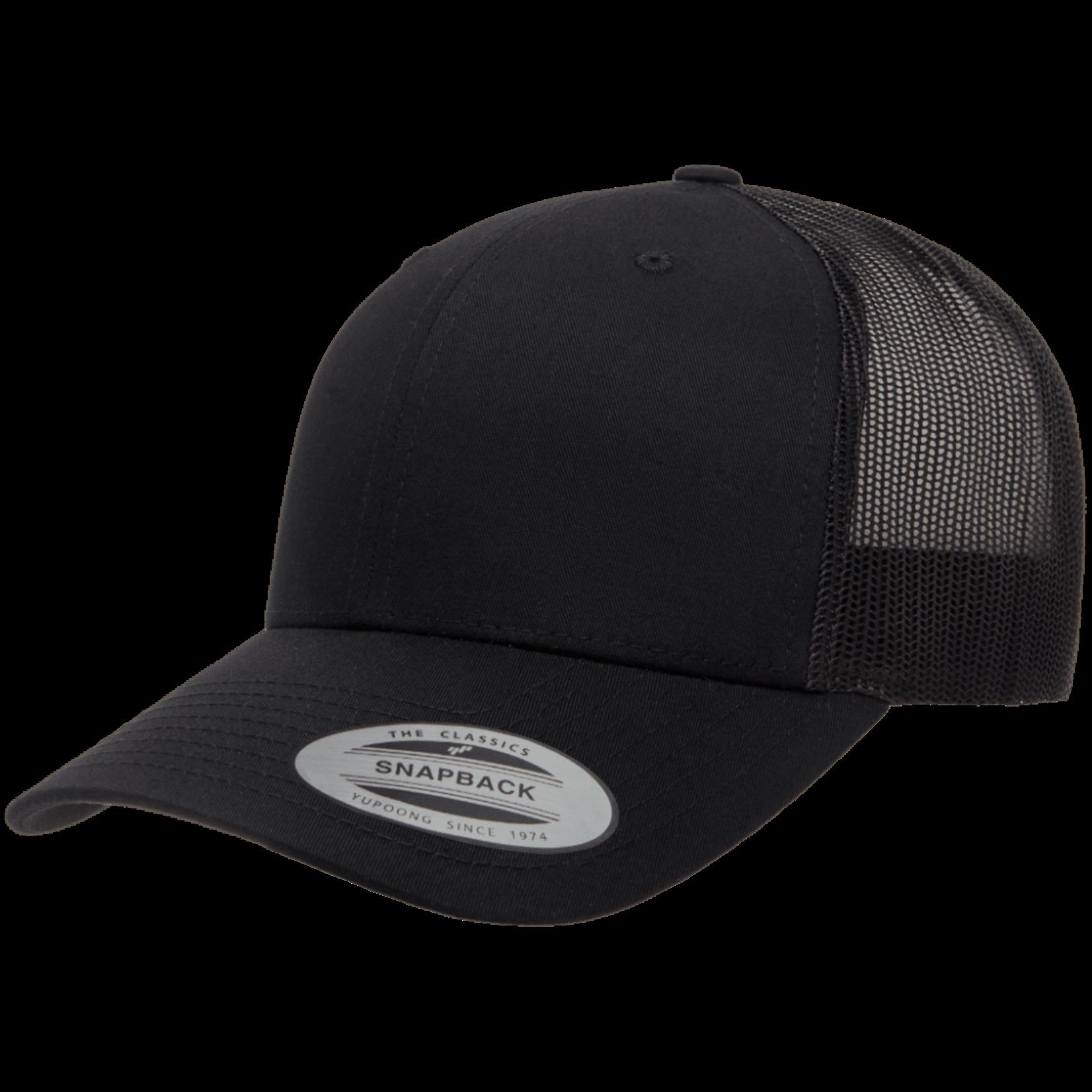 Flexfit Flexfit 6606 Classic Snapback Trucker Hat - Solid Black