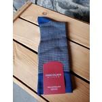 Marcoliani Marcoliani Pima Cotton Lisle Houndstooth - Blue/Beige