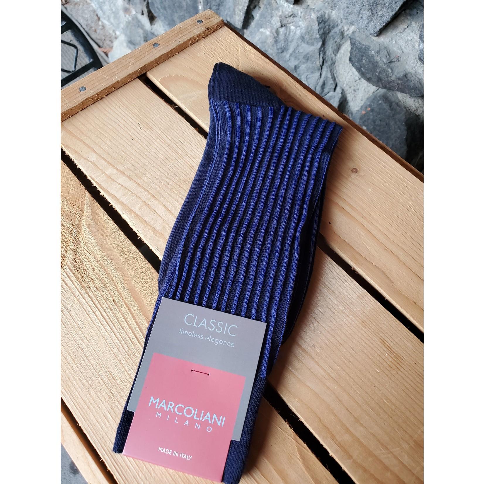 Marcoliani Marcoliani MAR4236T Pima Cotton Reverso Pinstripe Y11 Navy/ Blue