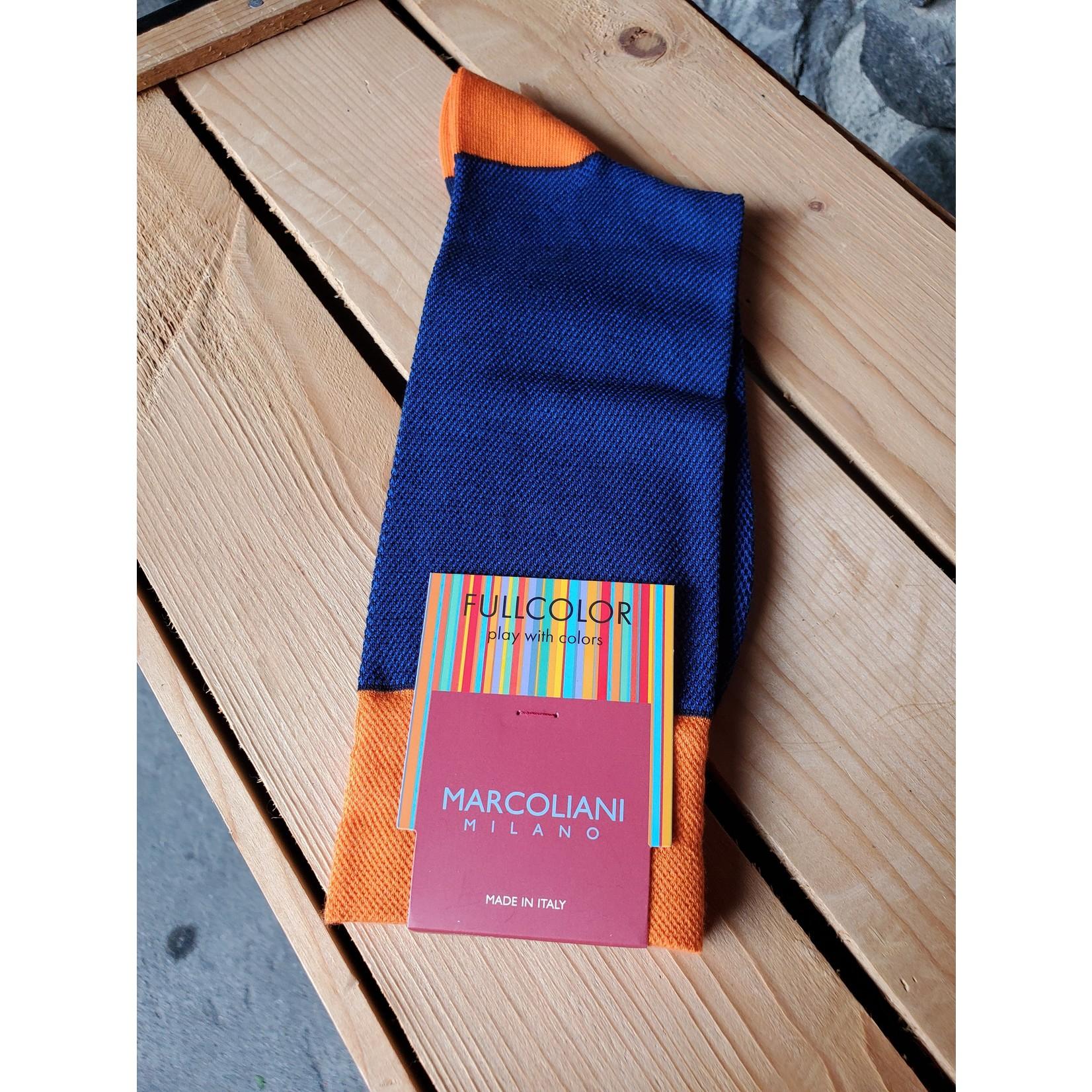 Marcoliani Marcoliani MAR4400T Pima Cotton Contrast Piqué 081 Royal Blue