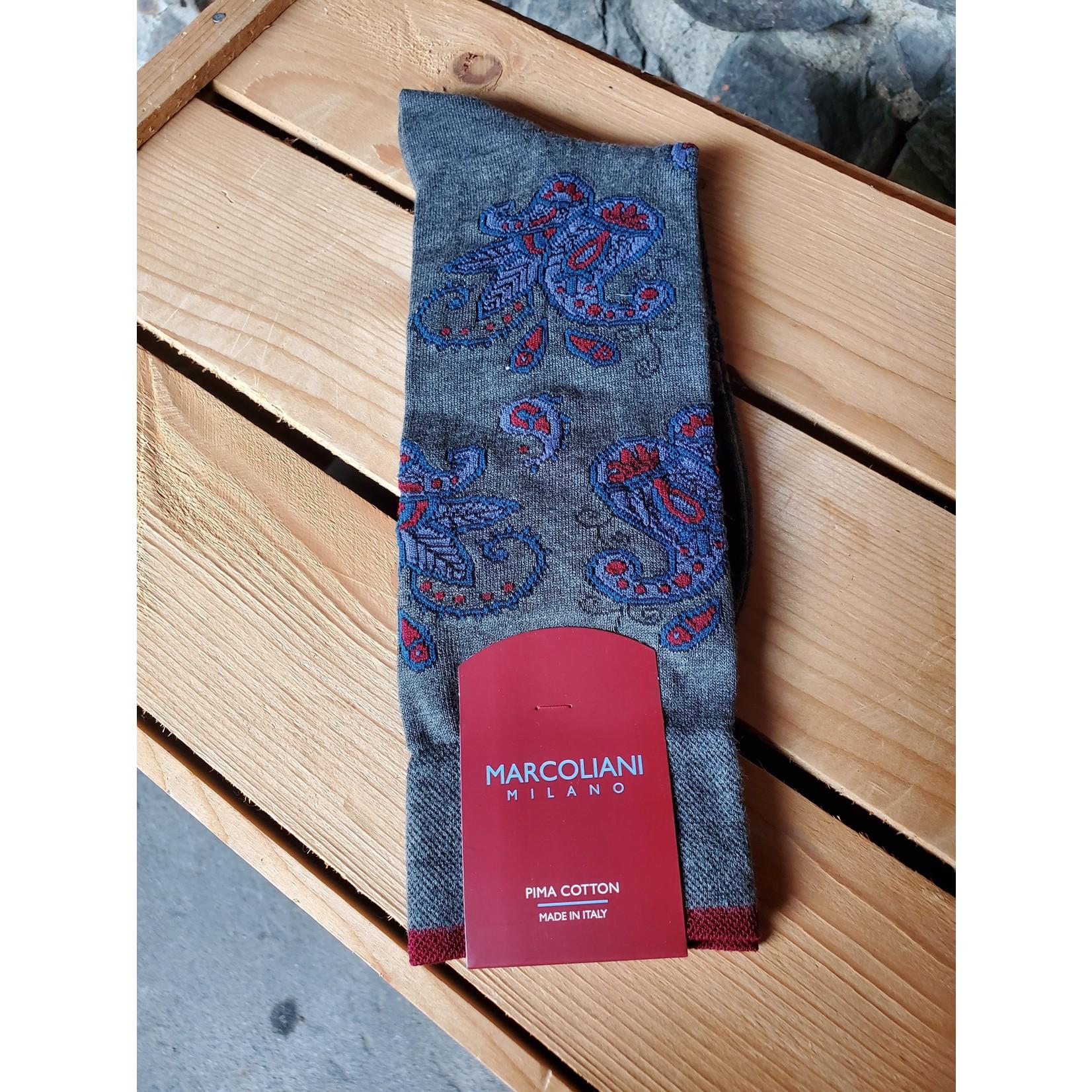 Marcoliani Marcoliani MAR4306T Pima Cotton Paisley 076 Asphalt