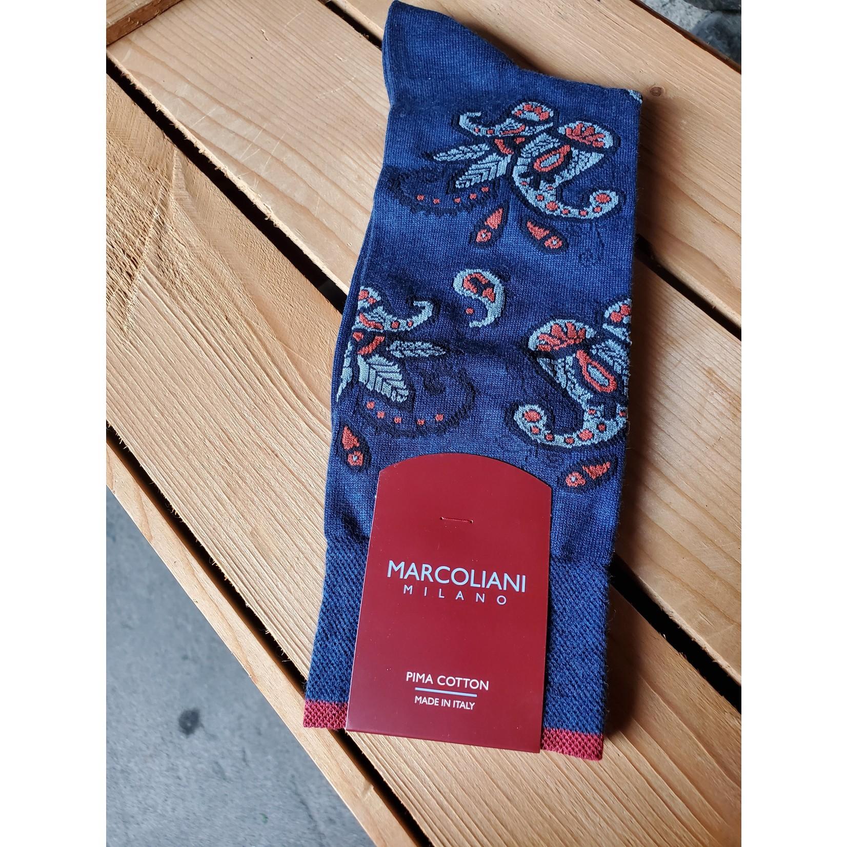 Marcoliani Marcoliani MAR4306T Pima Cotton Paisley 101 Dark Blue Denim