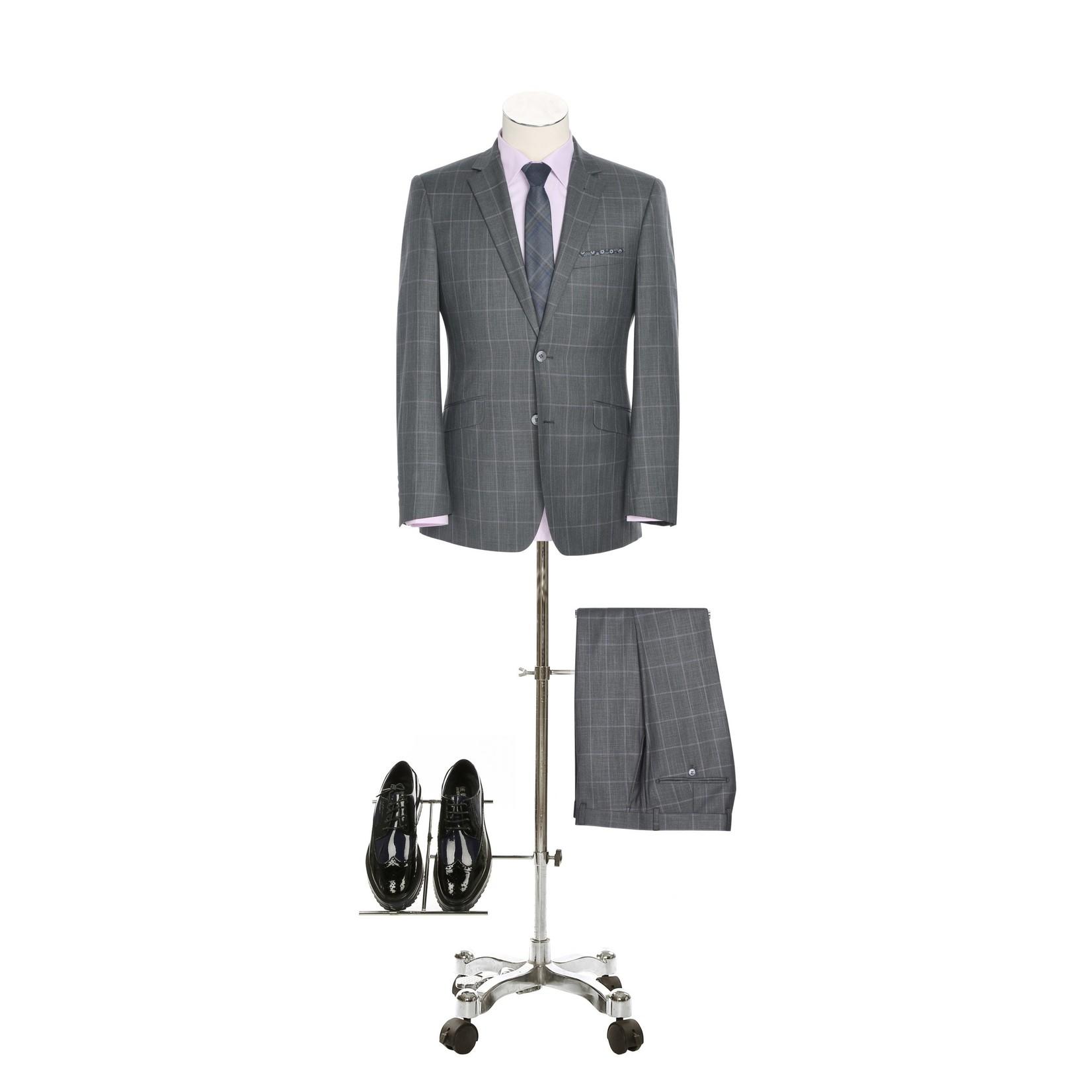 Renoir Renoir Slim Fit Suit 295-1 Grey Pattern