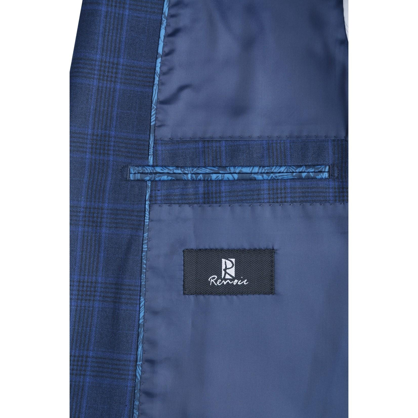 Renoir Renoir Slim Fit Suit 292-4 Blue Plaid