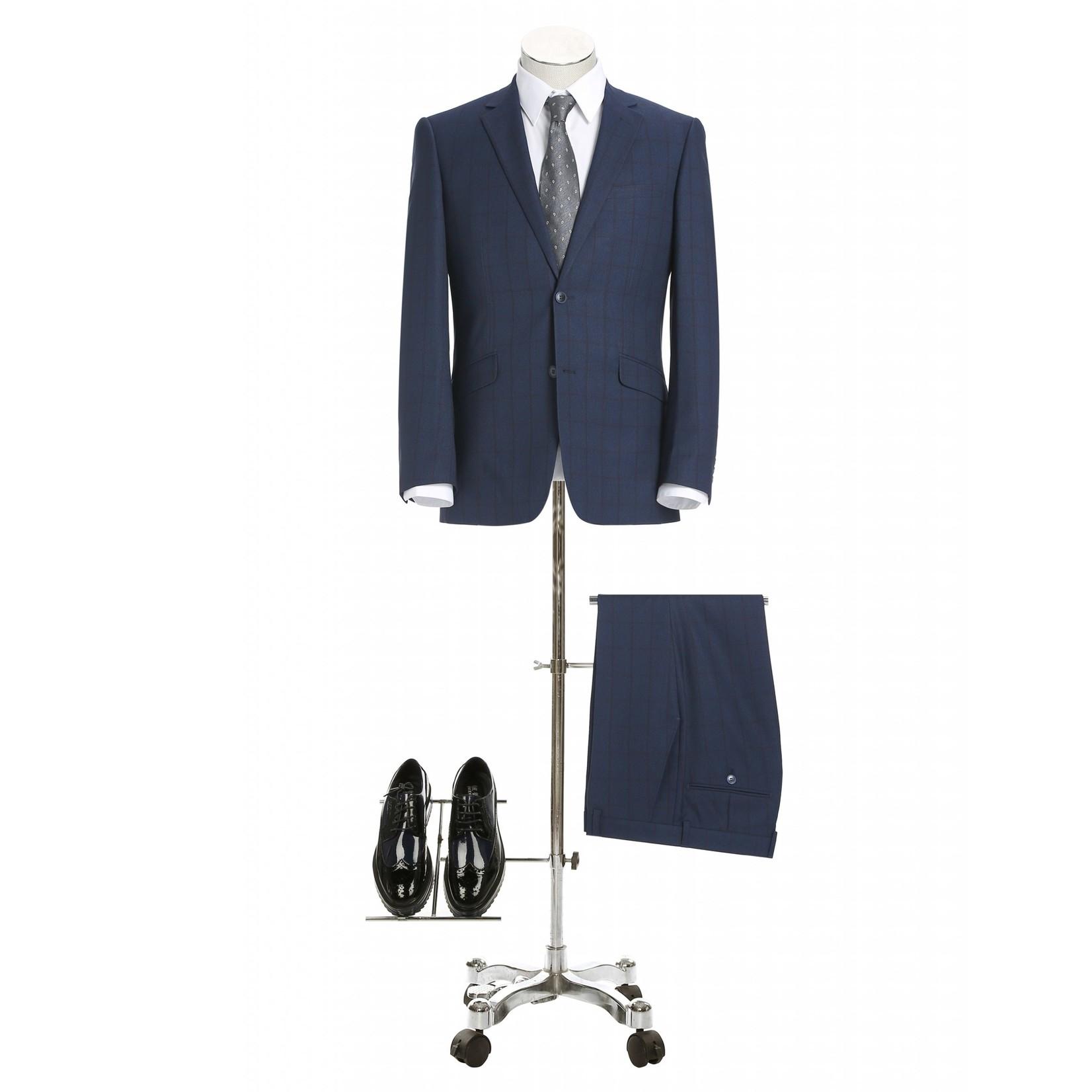 Renoir Renoir Slim Fit Suit 292-2 Blue Windowpane