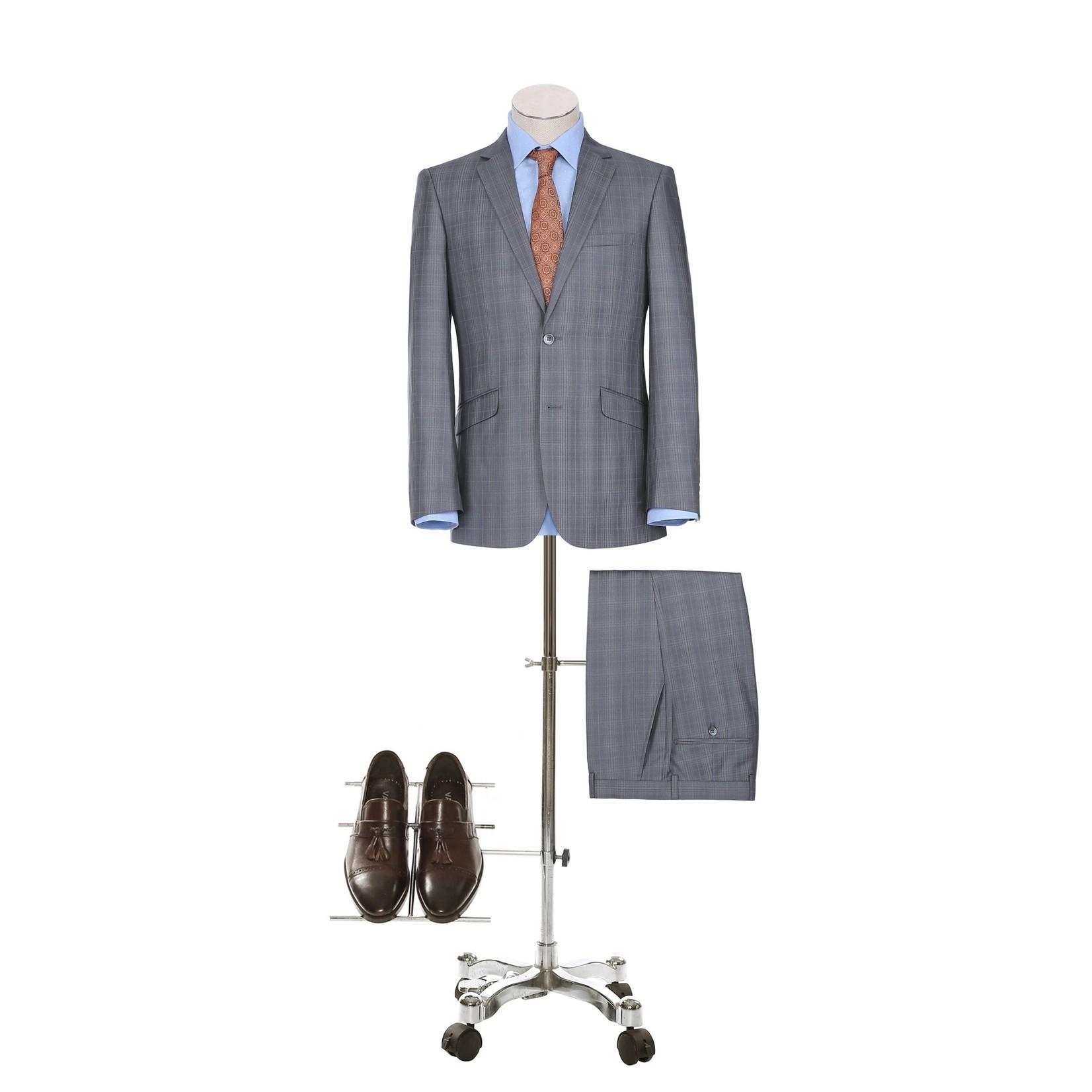 Renoir Renoir Slim Fit Suit 291-2 Grey Plaid