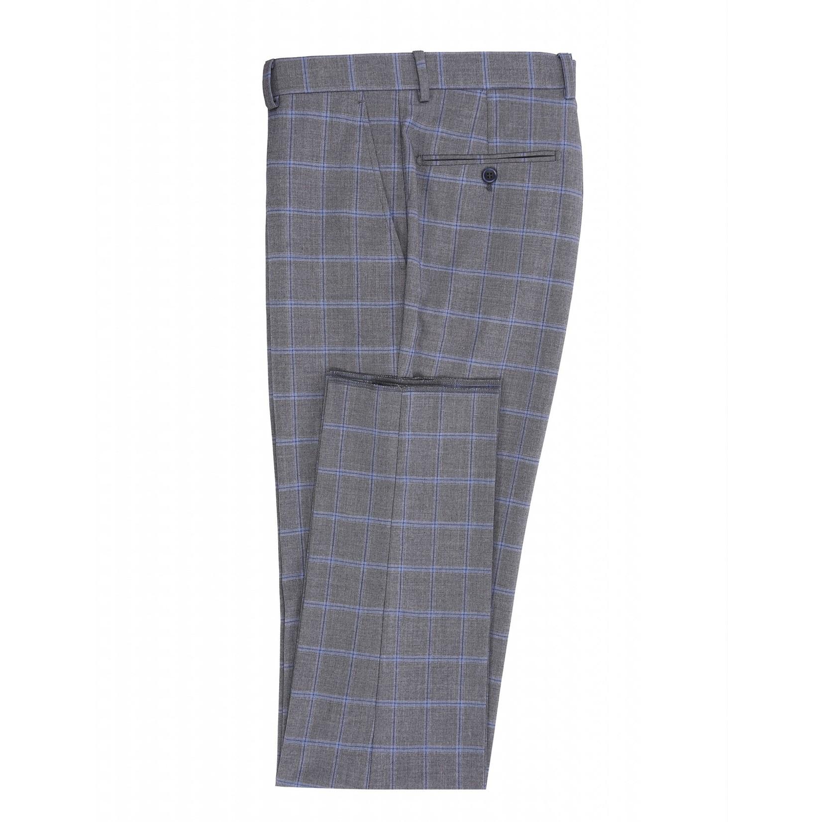 Renoir Renoir Slim Fit Suit 286-7 Grey Windowpane