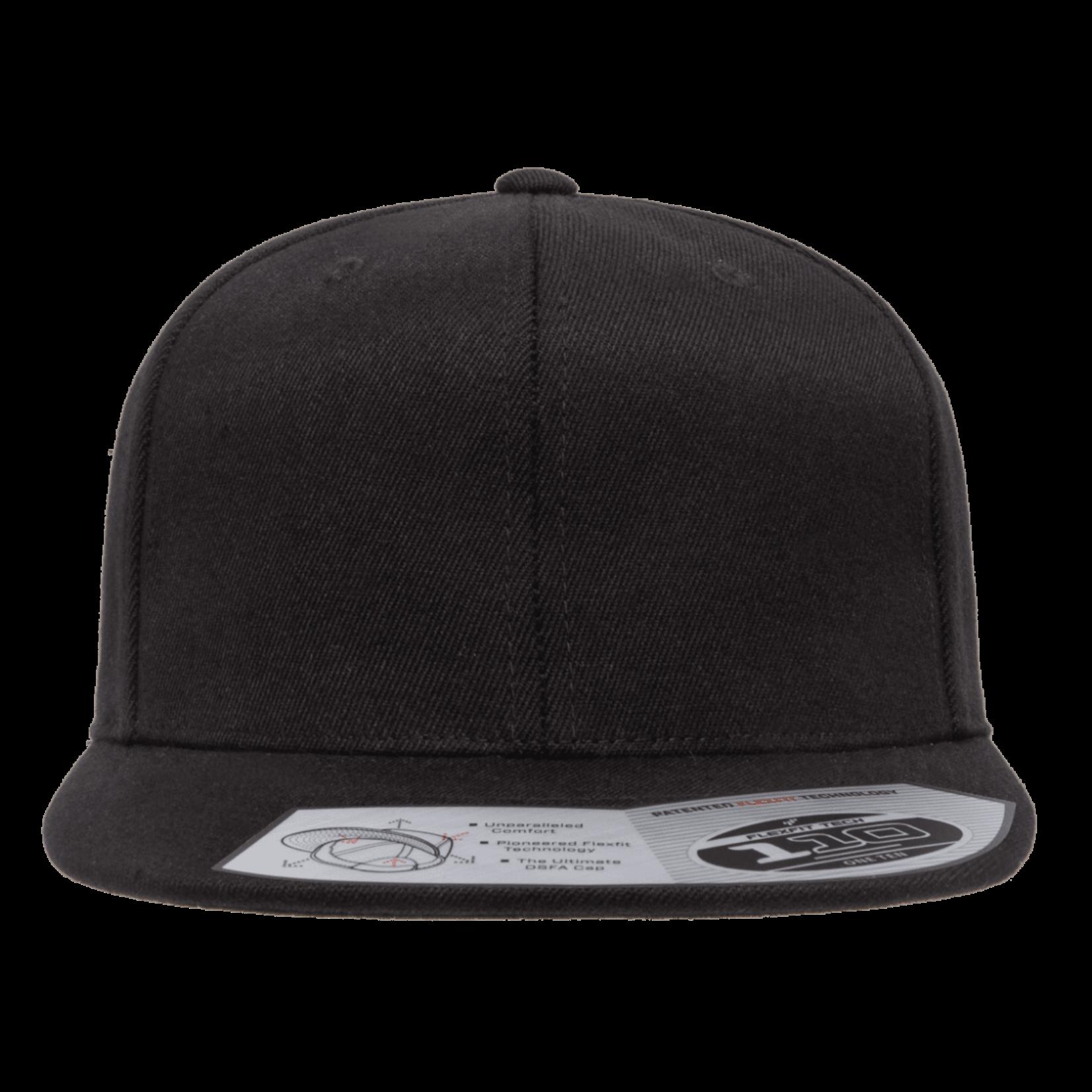 Flexfit Flexfit 110F Premium Snapback Hat - Black