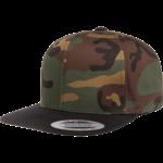 Flexfit Flexfit 6089TC Premium Snapback Hat - Camo/Black