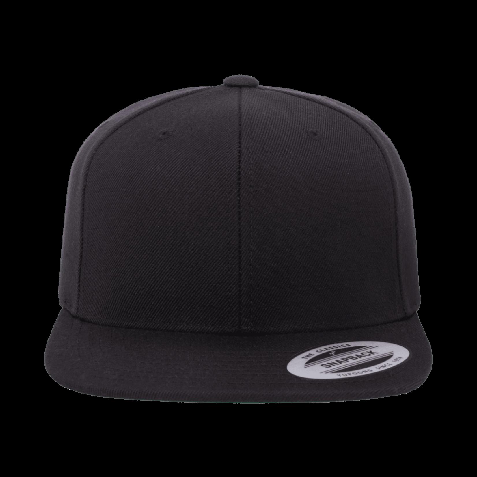 Flexfit Flexfit 6089M Premium Snapback Hat - Black