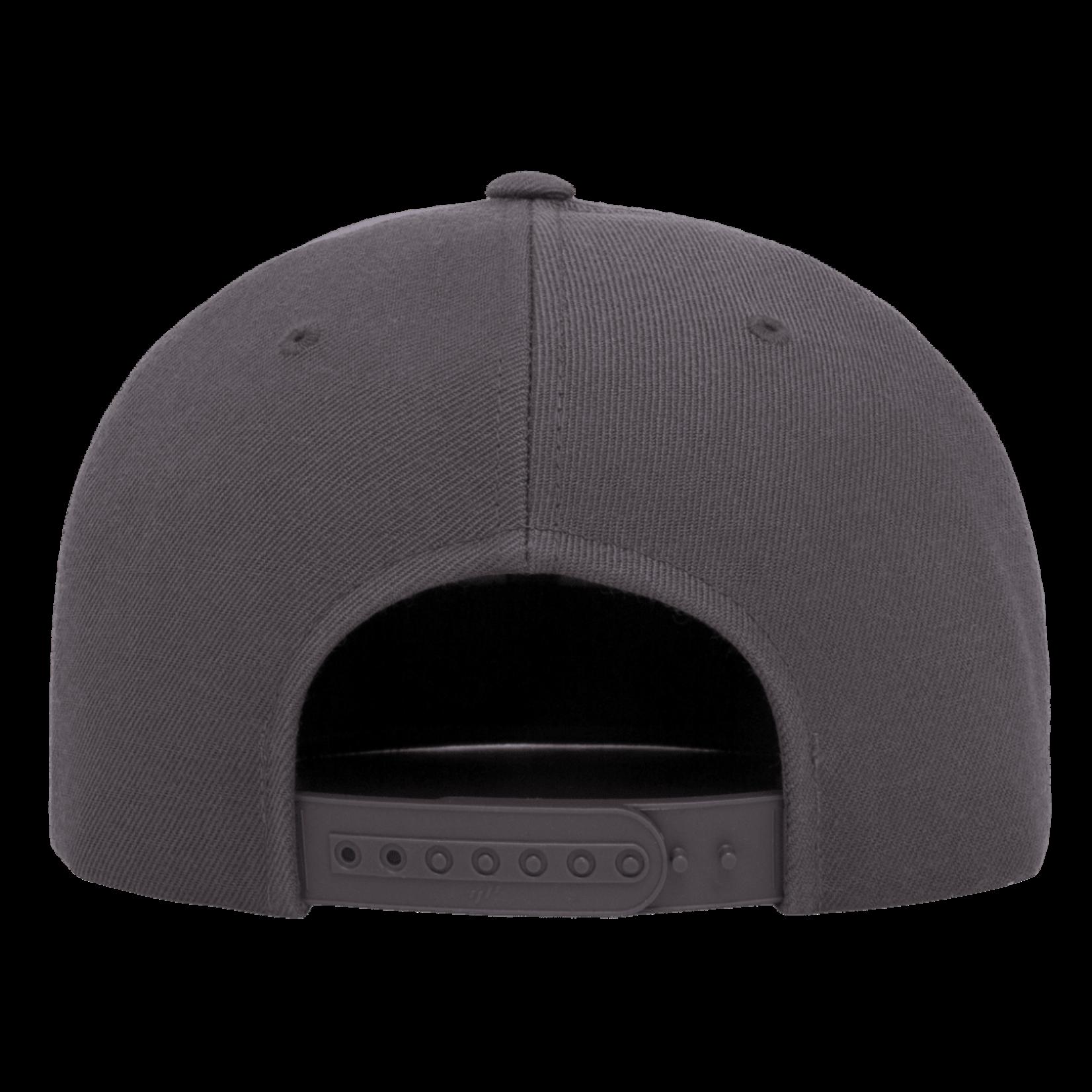 Flexfit Flexfit 6089M Premium Snapback Hat - Dark Grey