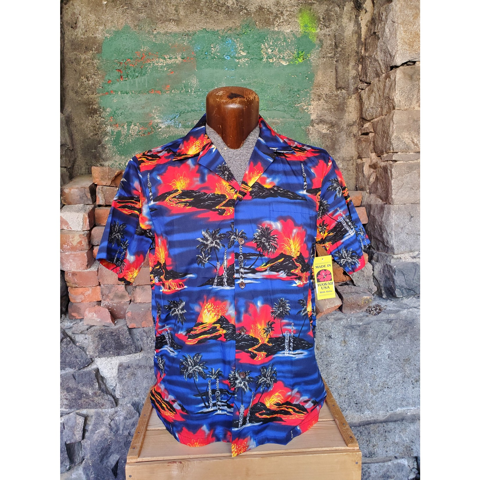 RJC Authentic Hawaiian Shirt - Royal Volcano