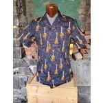 RJC Authentic Hawaiian Shirt - Black Guitars