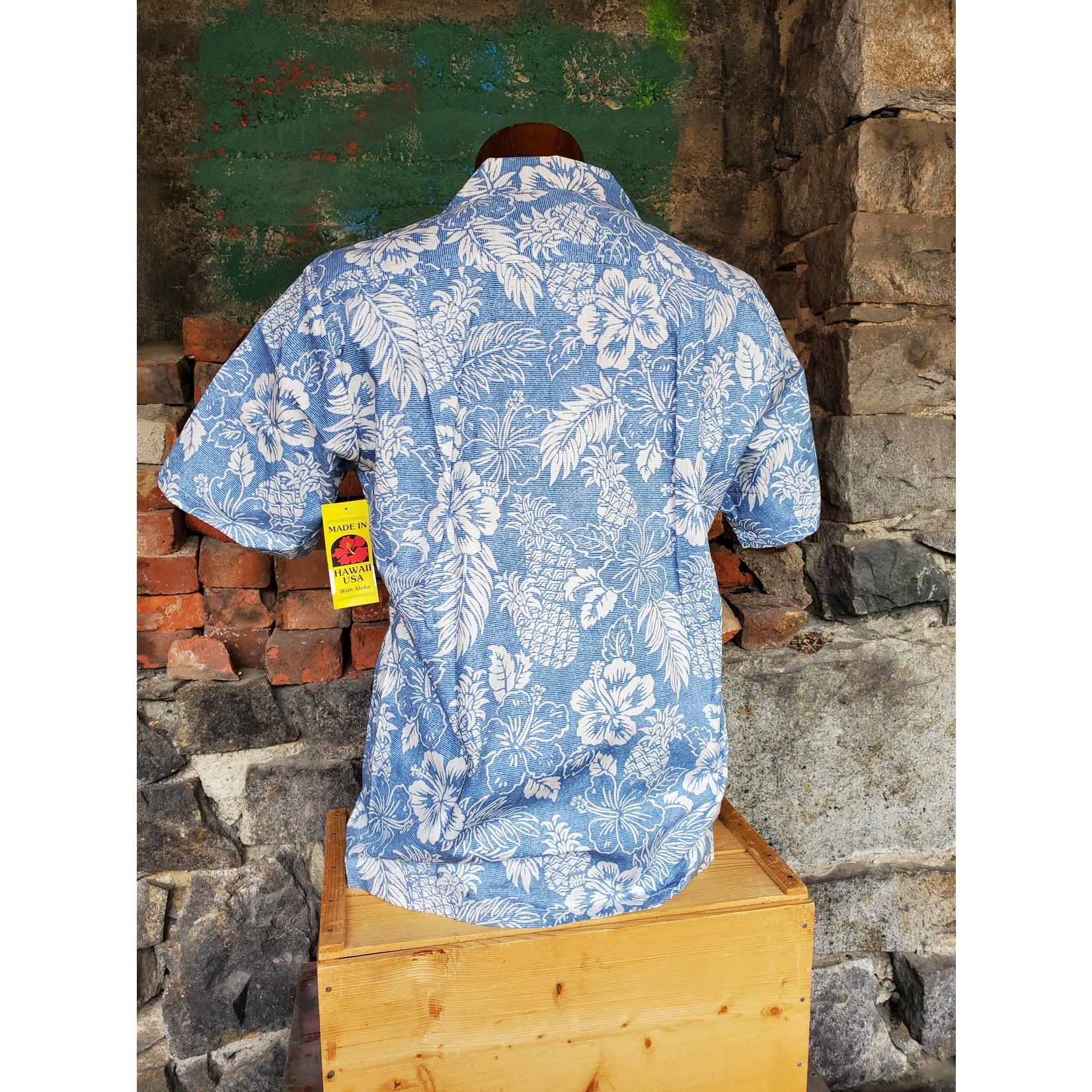 RJC Authentic Hawaiian Shirt - Classic Blue Floral