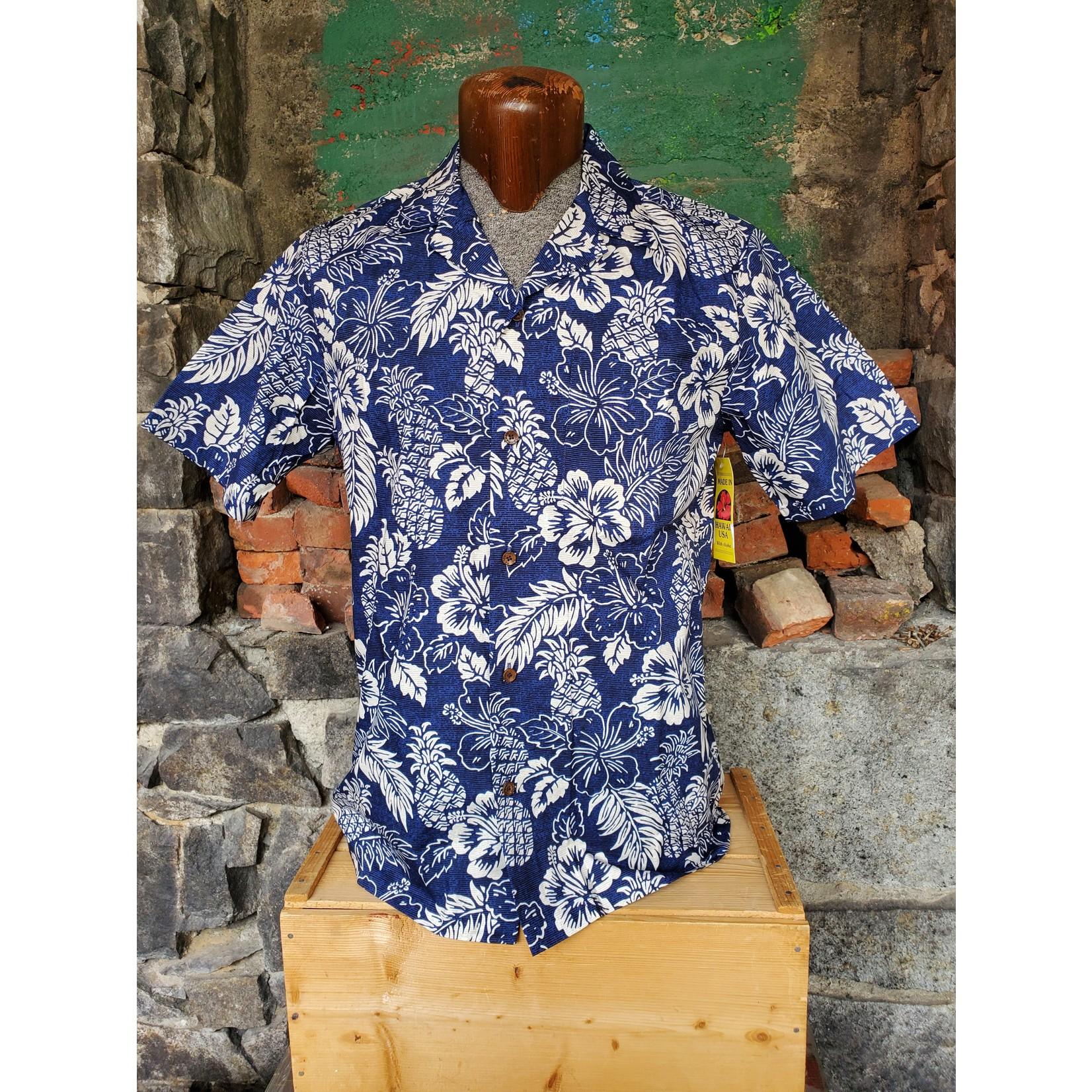 RJC Authentic Hawaiian Shirt - Classic Navy Floral
