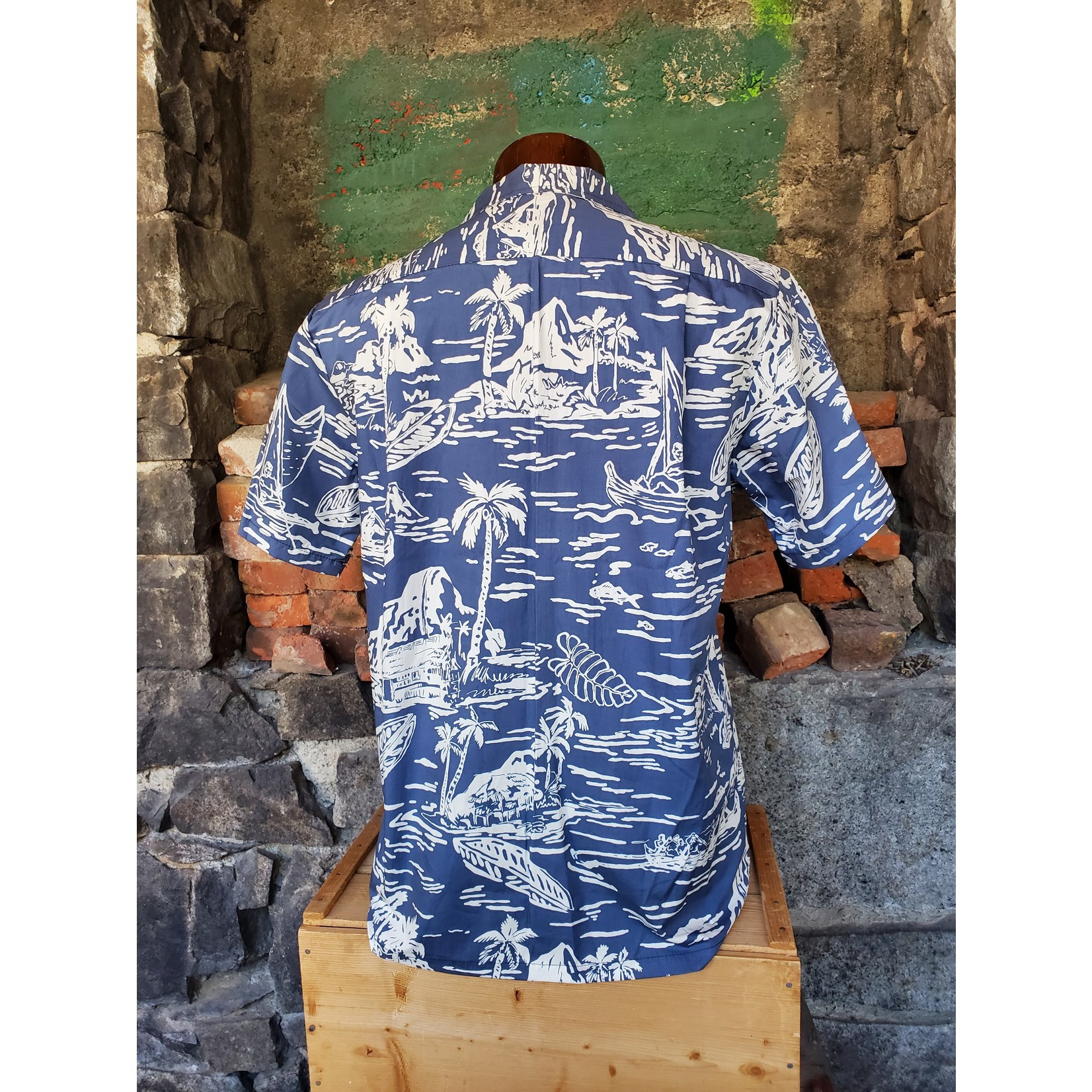 RJC Authentic Hawaiian Shirt - Impressionist Blue