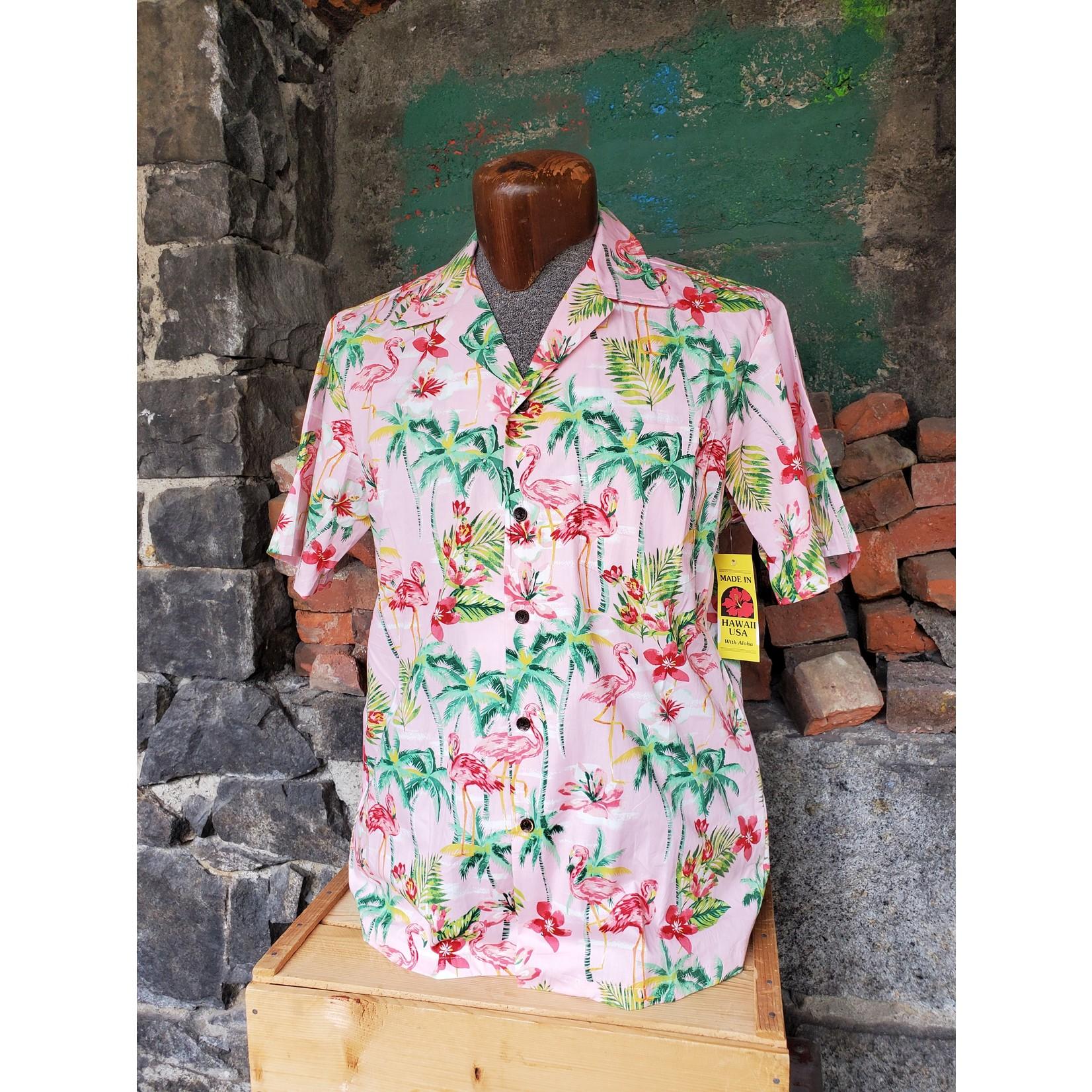 RJC Authentic Hawaiian Shirt - Pink Flamingo Floral