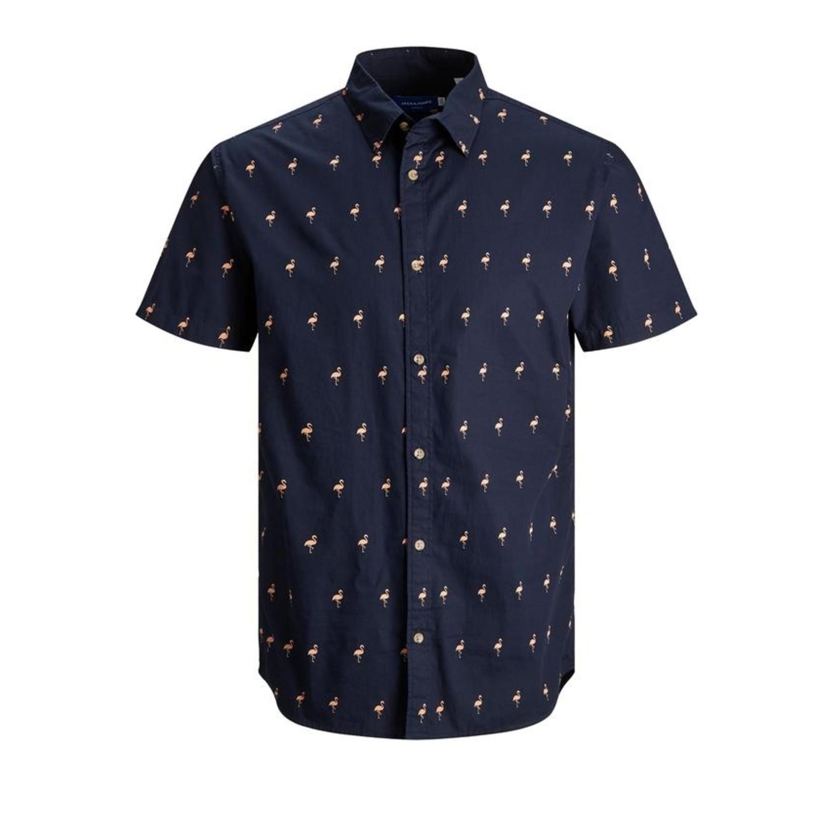 Jack & Jones Jack & Jones 12187951 Poolside Short-Sleeve Shirt - Navy Blazer