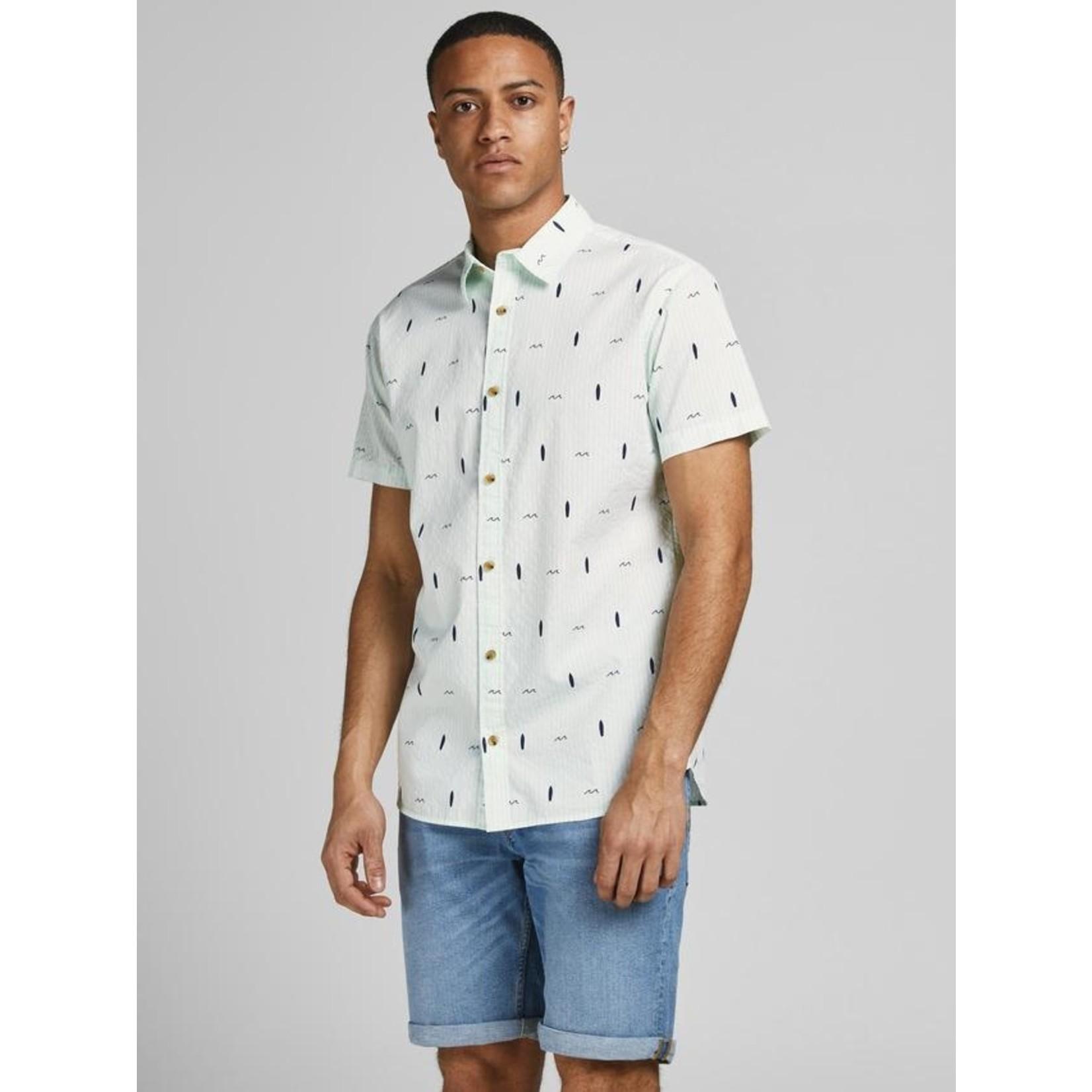 Jack & Jones Jack & Jones 12187951 Poolside Short-Sleeve Shirt - Pale Blue