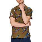 Selected Homme Selected Homme Siesta Shirt - Dark Olive Print
