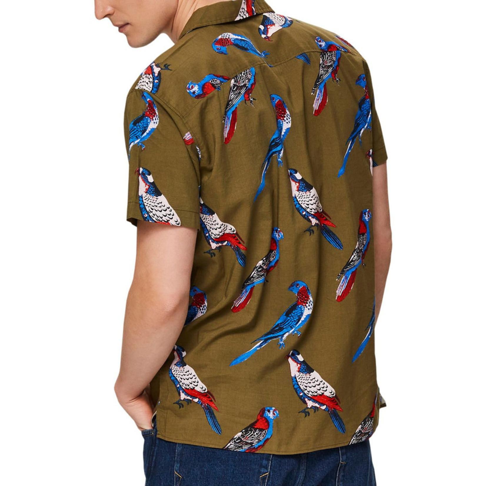 Selected Homme Selected Homme 16073543 Siesta Short-Sleeve Shirt - Dark Olive Print