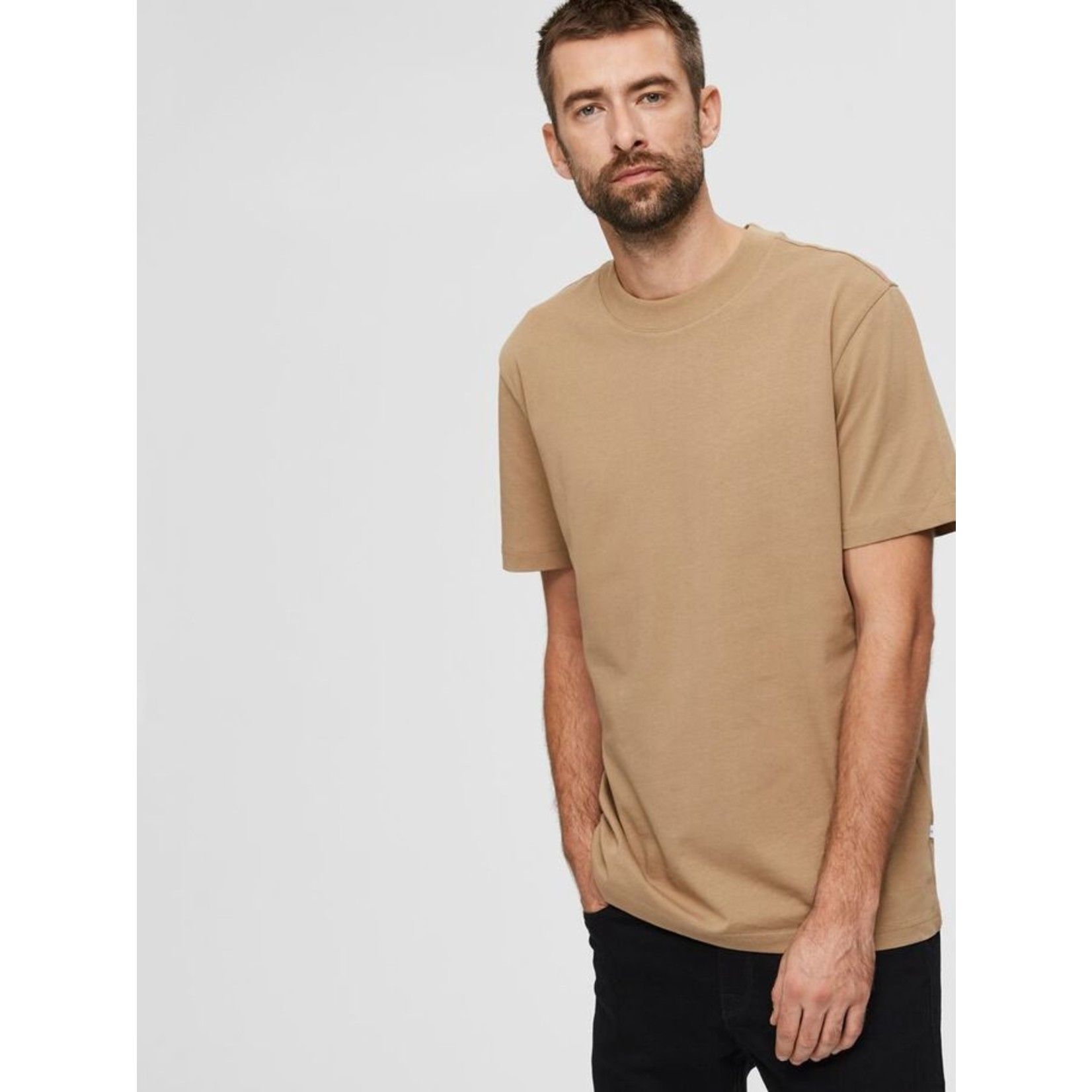 Selected Homme Selected Homme 1607738 Colman Relaxed Tee - Kelp